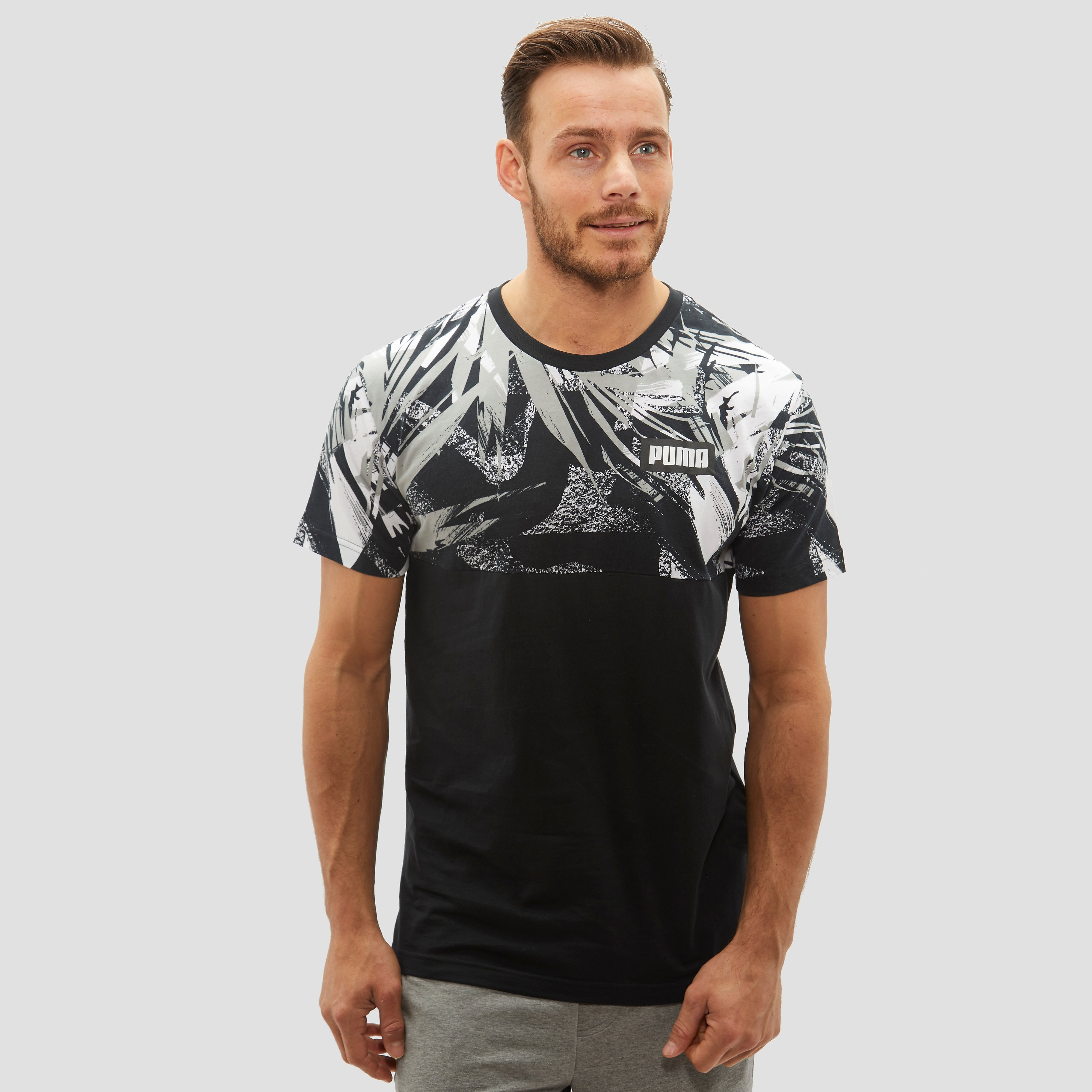 PUMA SUMMER ALL OVER PRINT SHIRT ZWART HEREN
