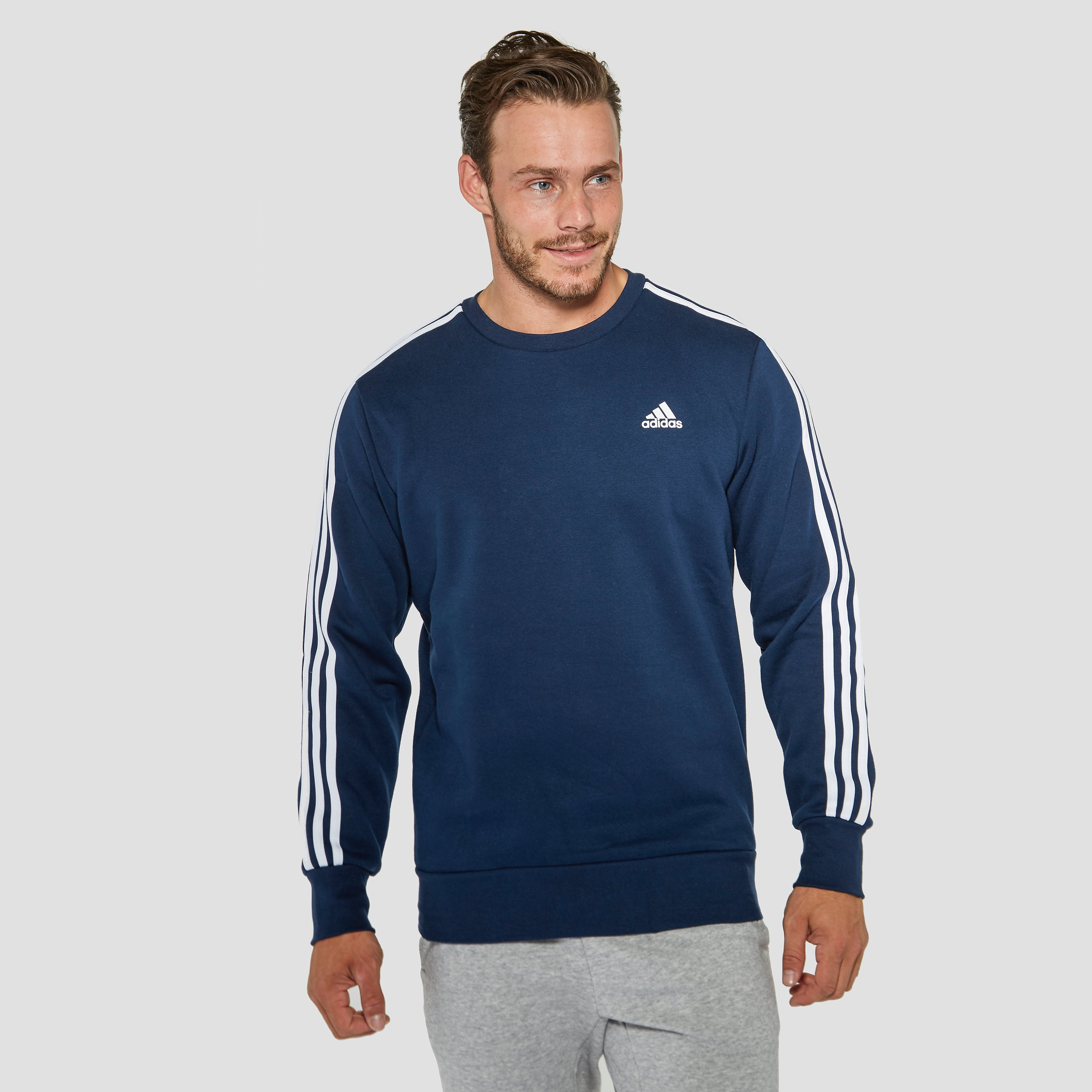 ADIDAS ESSENTIALS 3-STRIPES SWEATER BLAUW HEREN