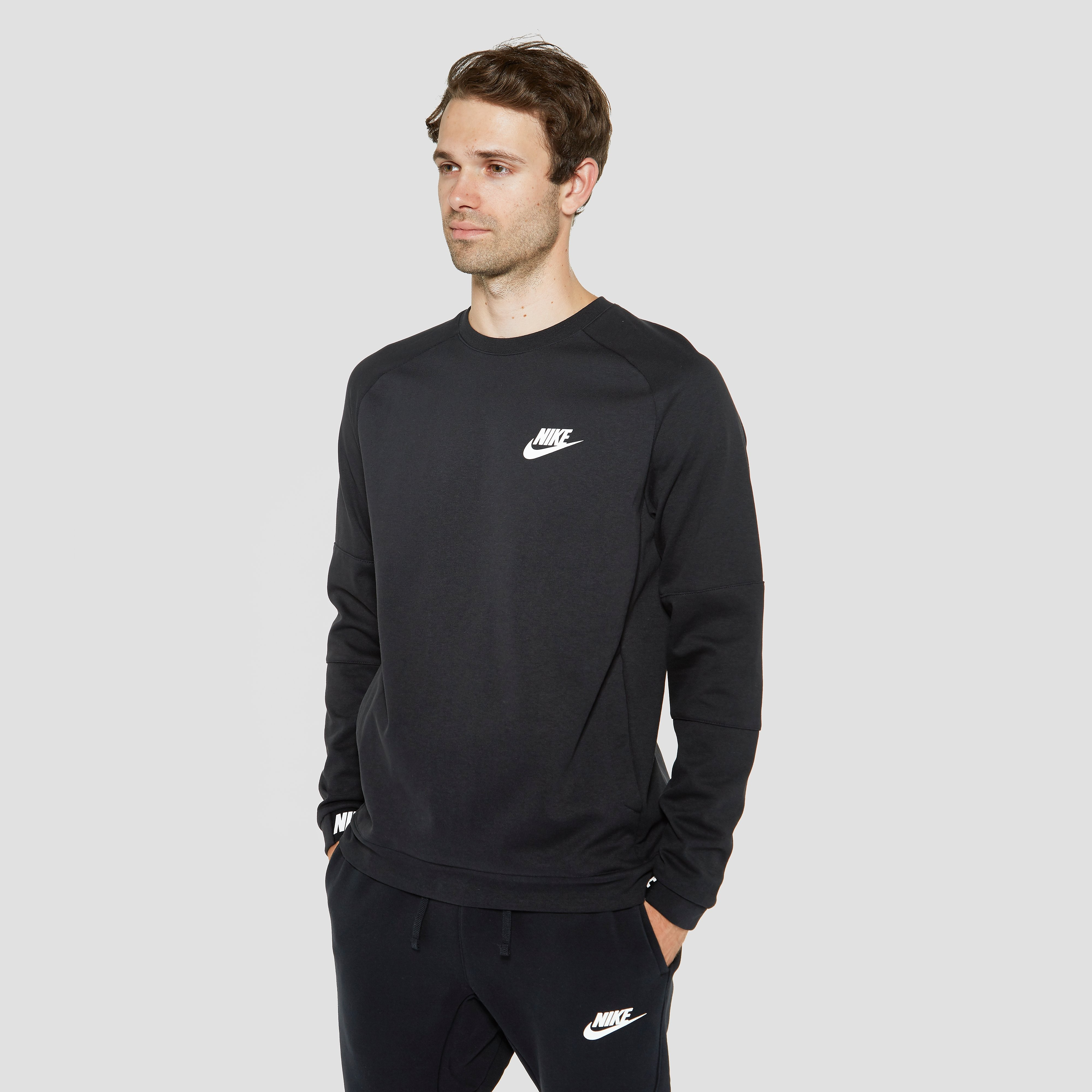 NIKE SPORTSWEAR AV15 CREW FLEECE SWEATER ZWART HEREN