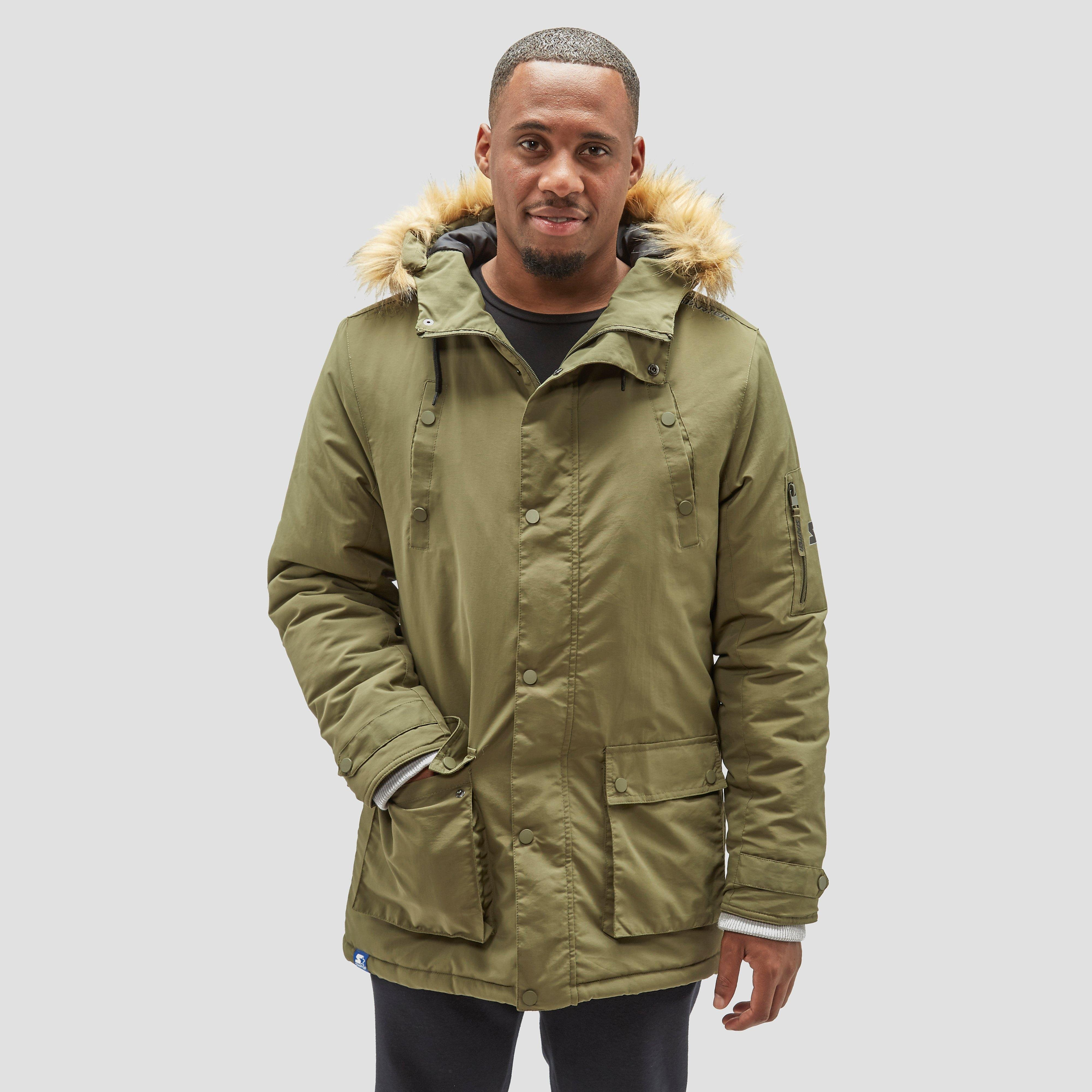 STARTER SOURCE PARKA WINTERJAS GROEN HEREN