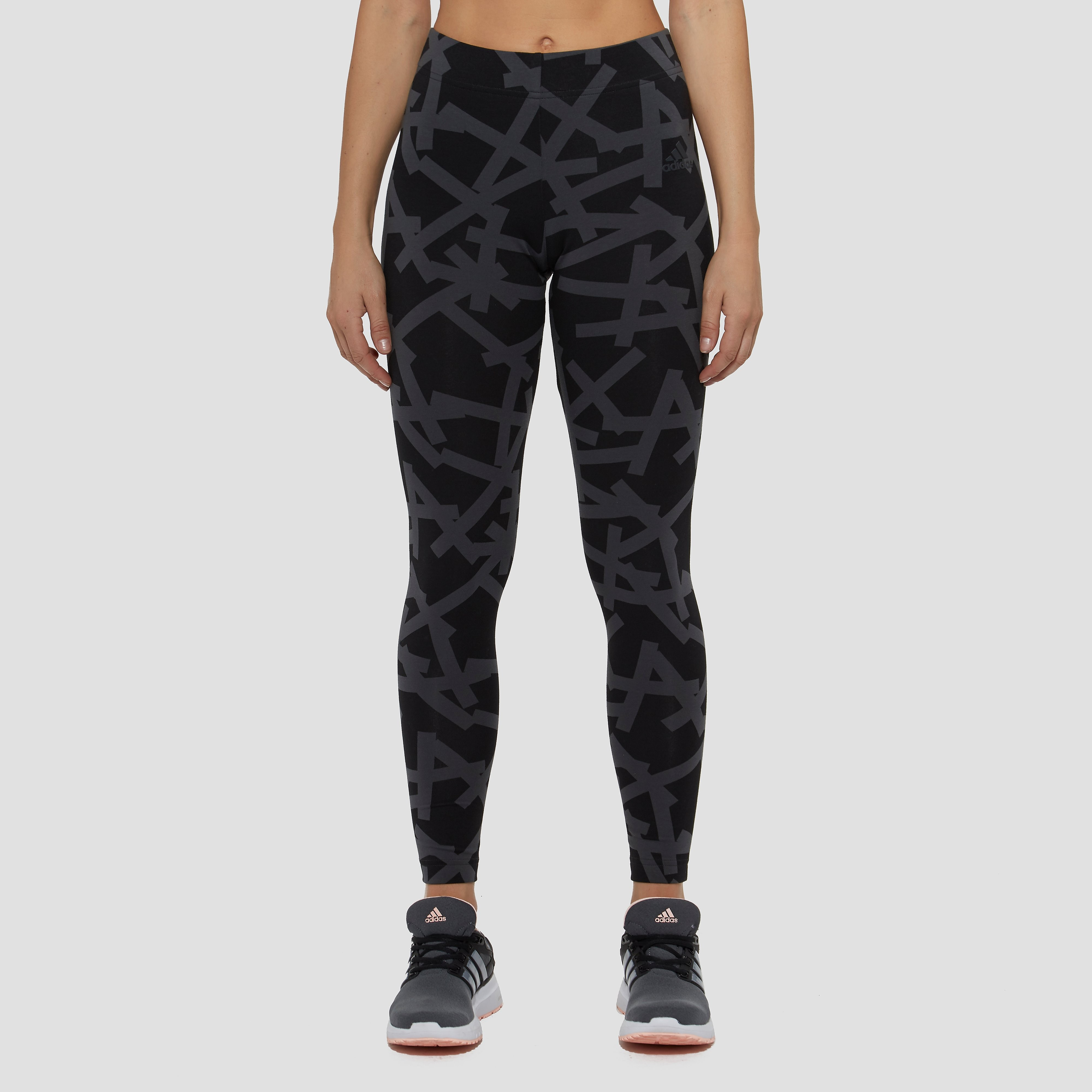 ADIDAS ESSENTIALS ALLOVER-PRINT TIGHT GRIJS DAMES