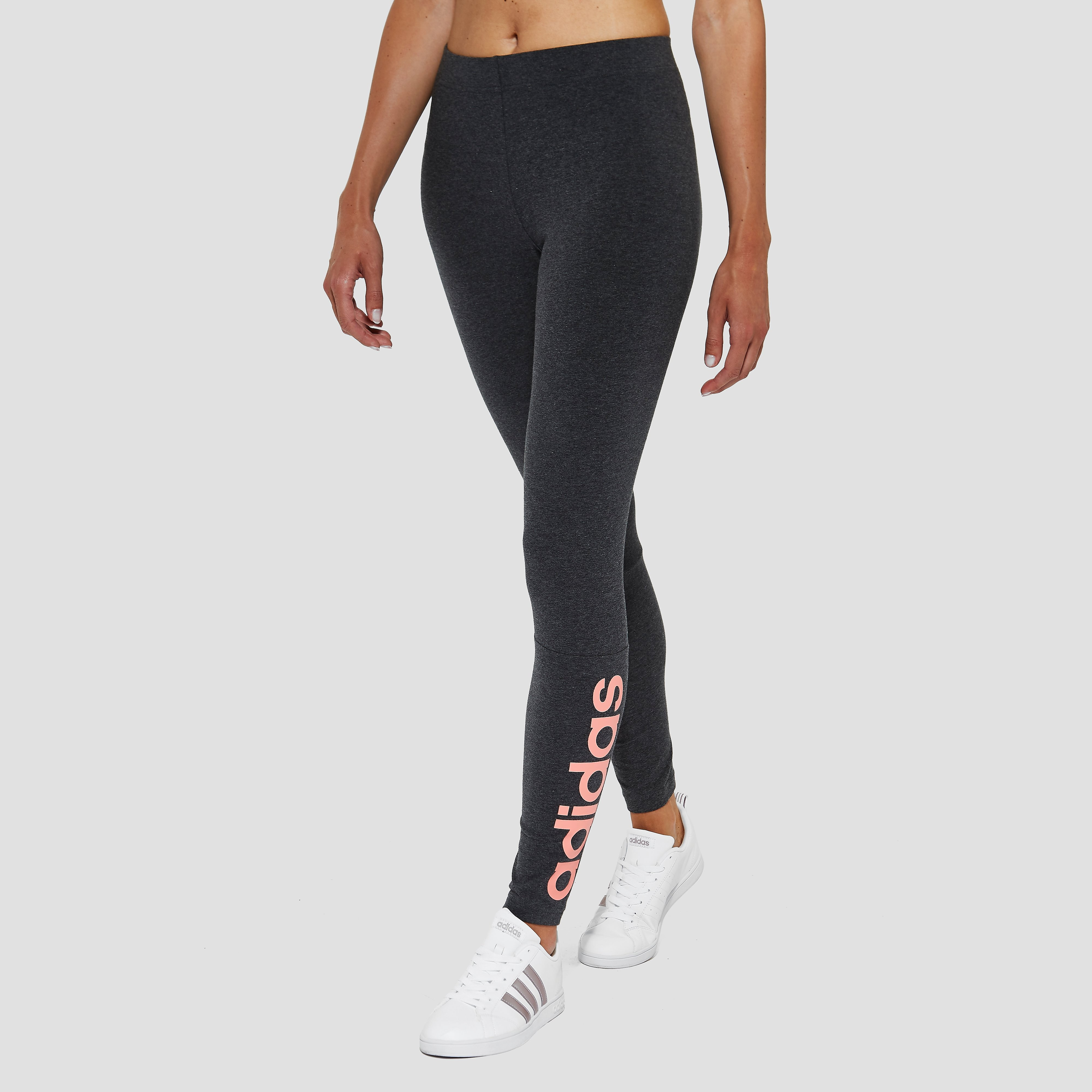 ADIDAS ESSENTIALS LINEAR TIGHT GRIJS/ROZE DAMES