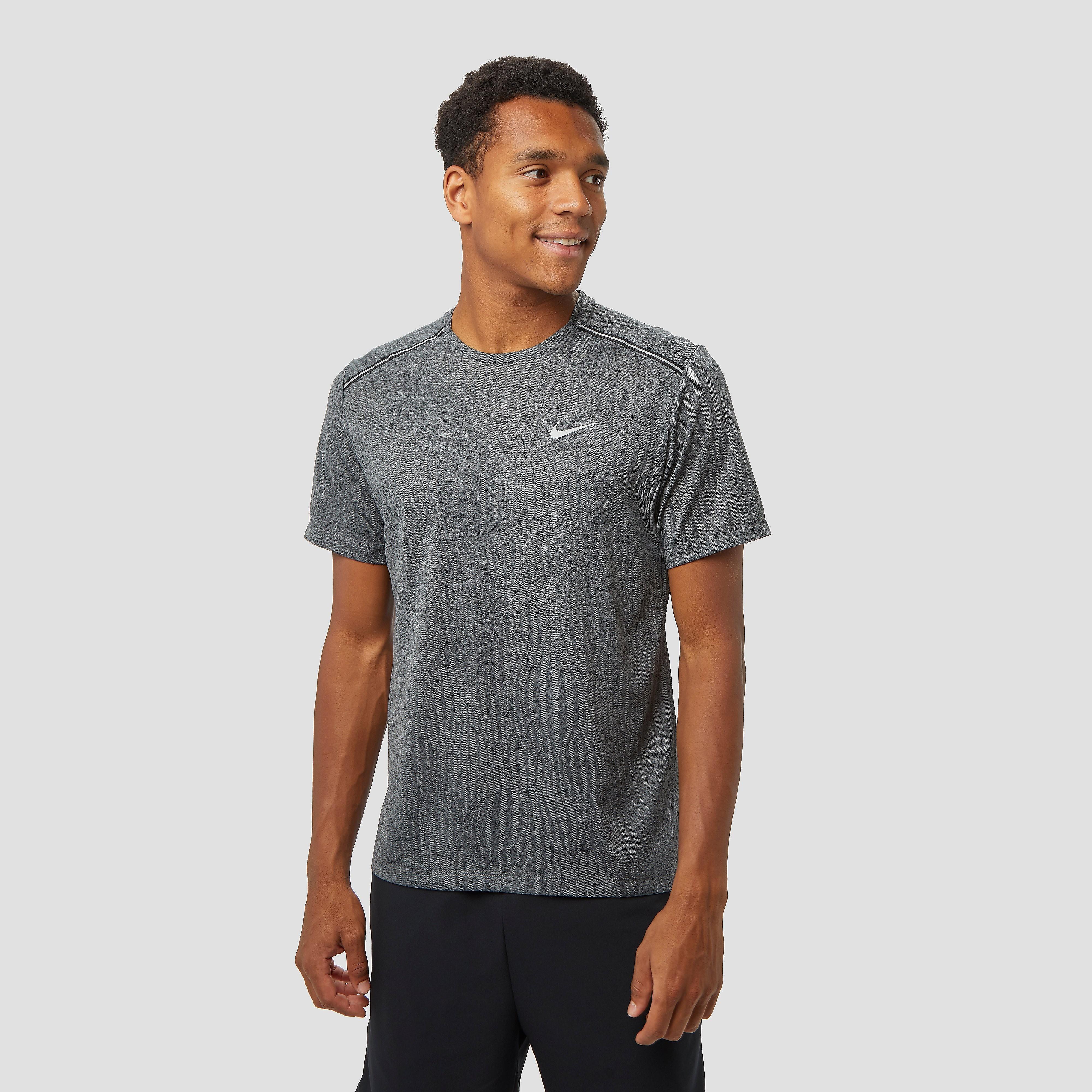 NIKE Dri-fit miler jacquard hardloopshirt zwart heren Heren