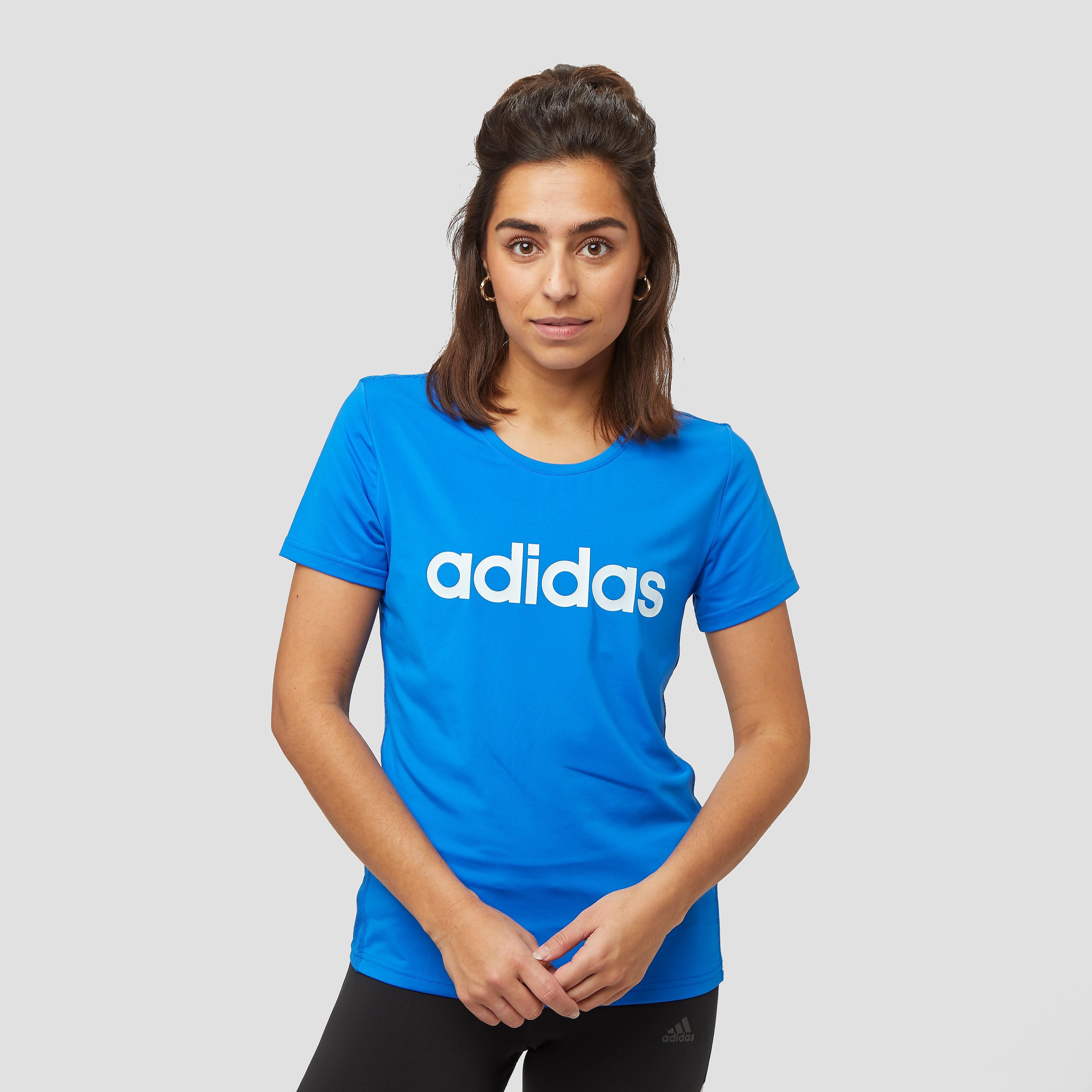 adidas Design 2 move hardloopshirt blauw dames Dames