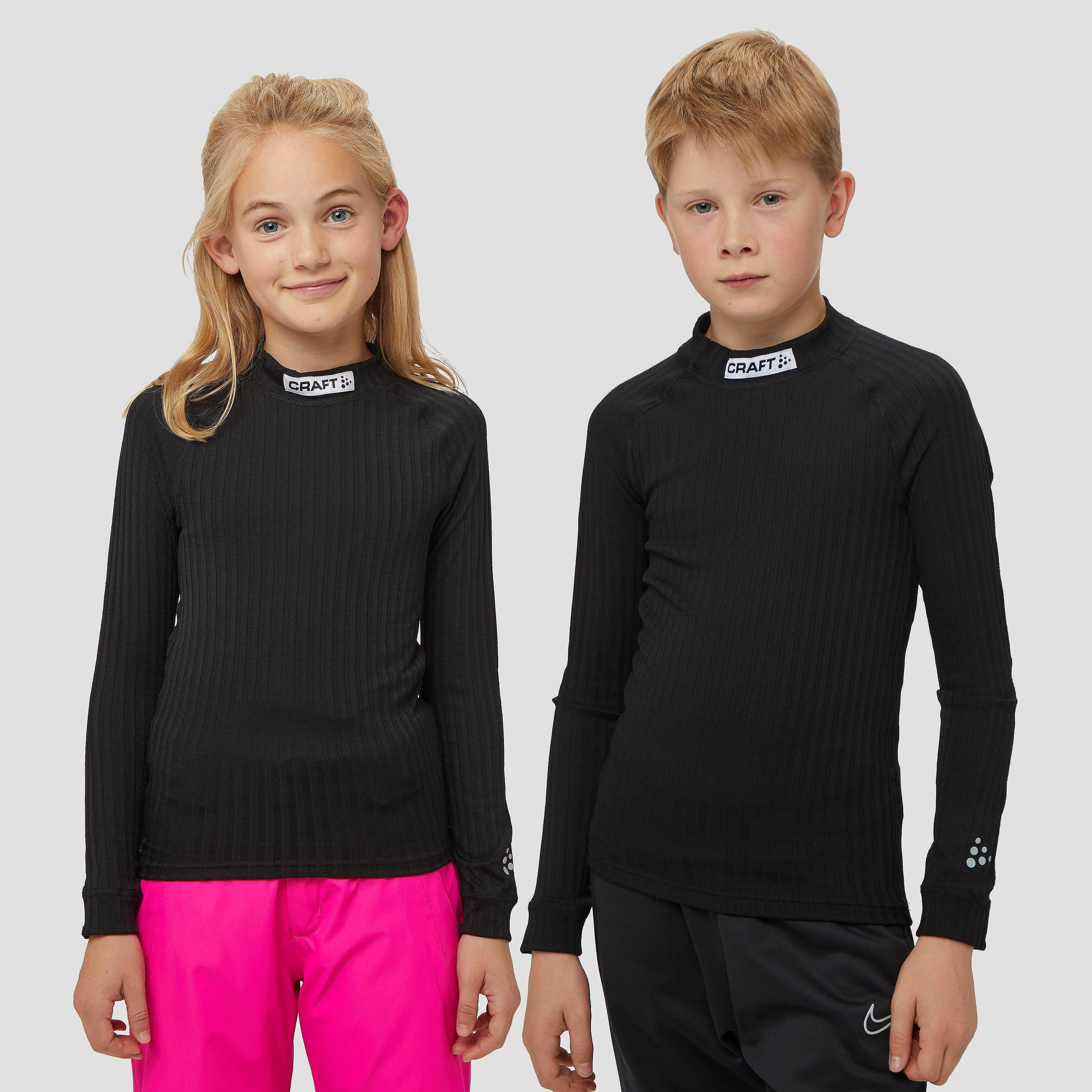 CRAFT Prog baselayer thermoshirt zwart kinderen Kinderen