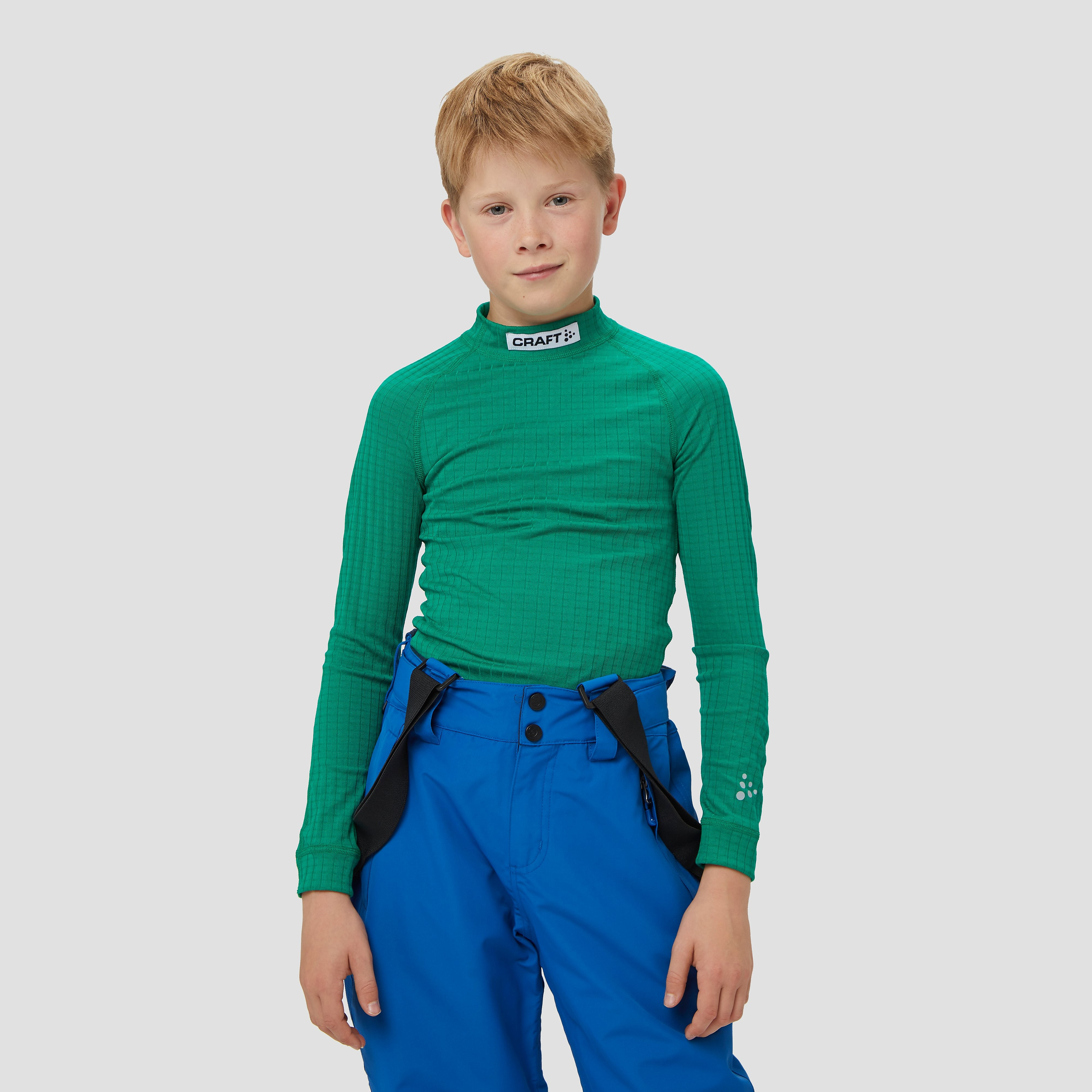 CRAFT Prog baselayer thermoshirt groen kinderen Kinderen