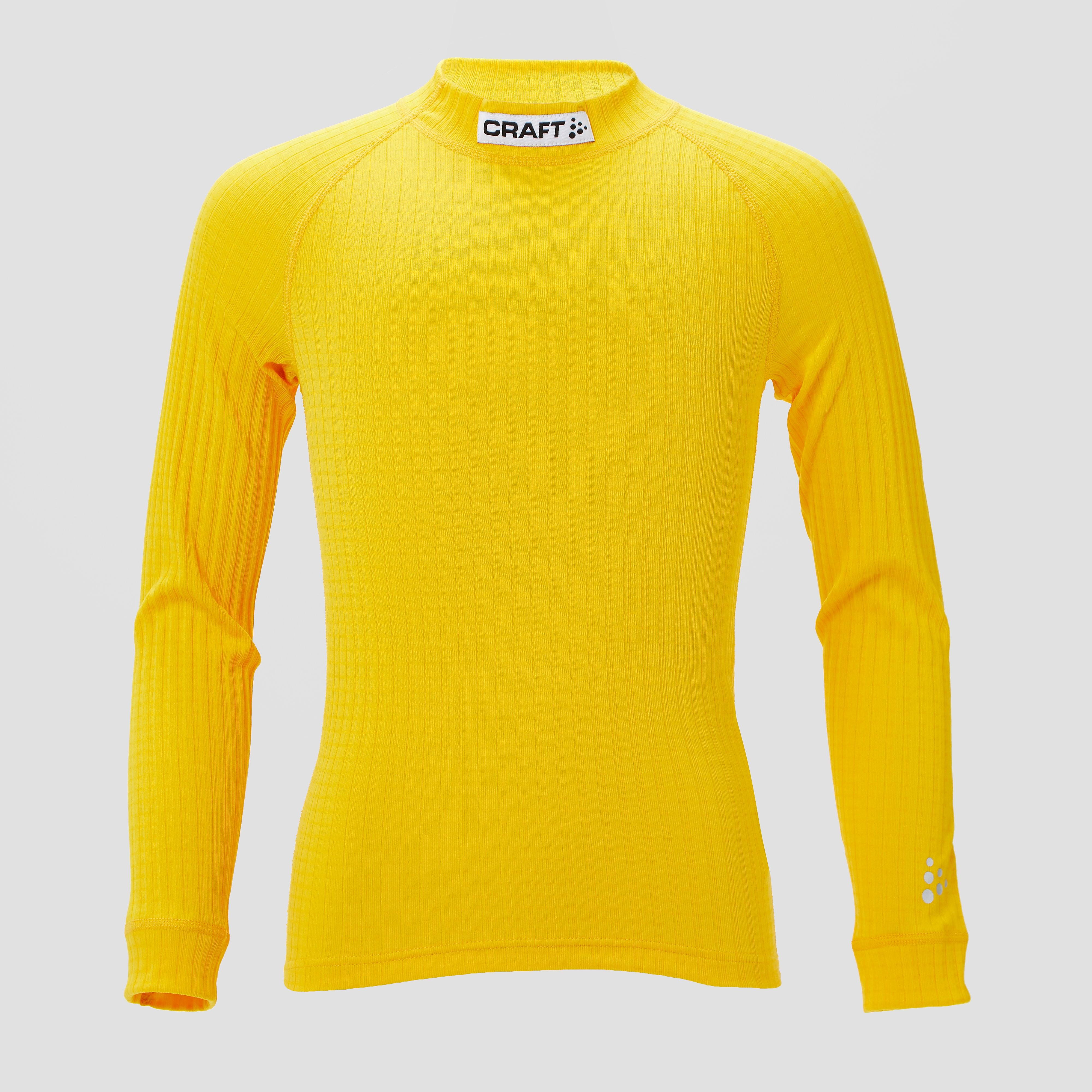 CRAFT Prog baselayer thermoshirt geel kinderen Kinderen