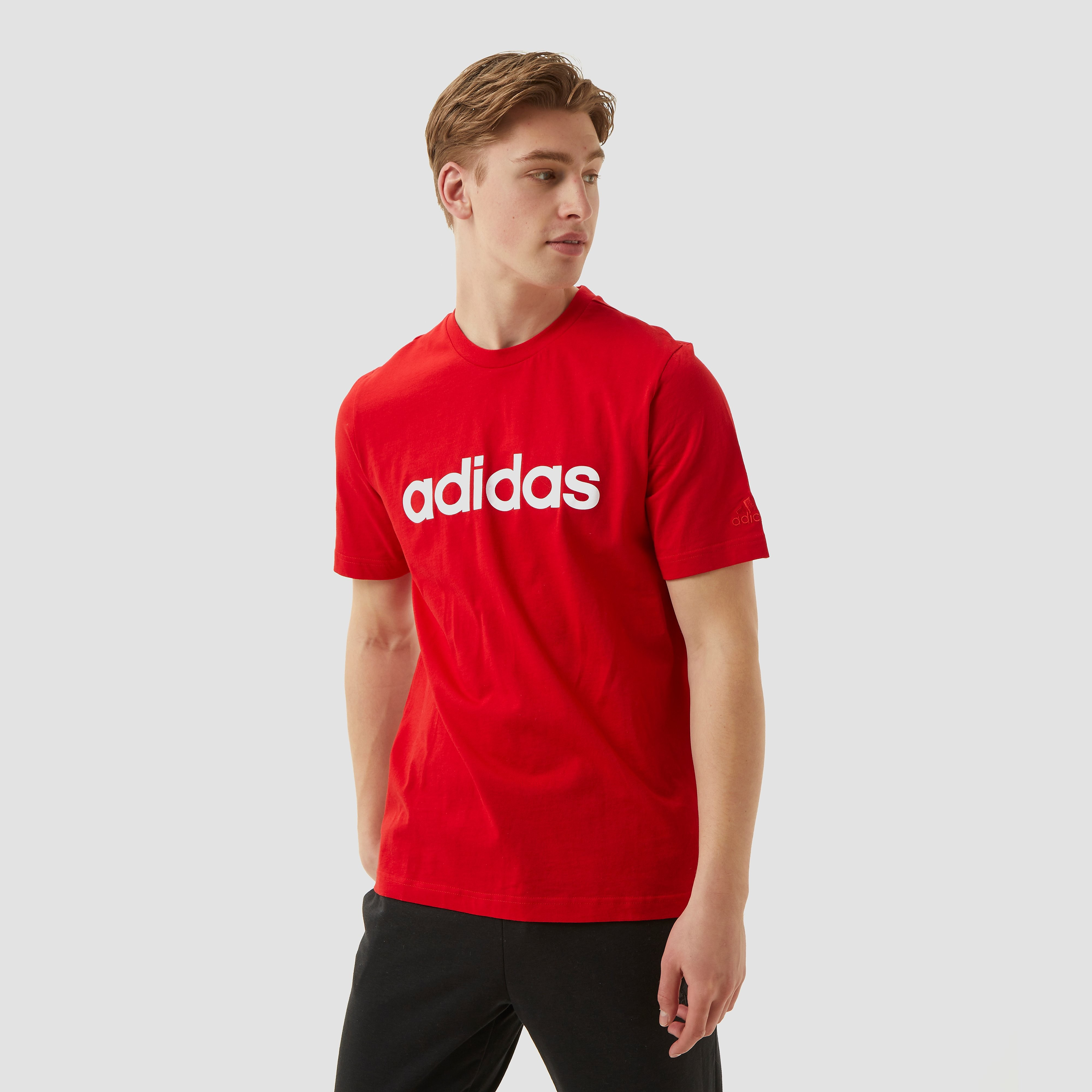 adidas Performance T-shirt ESSENTIALS EMBROIDERED LINEAR LOGO