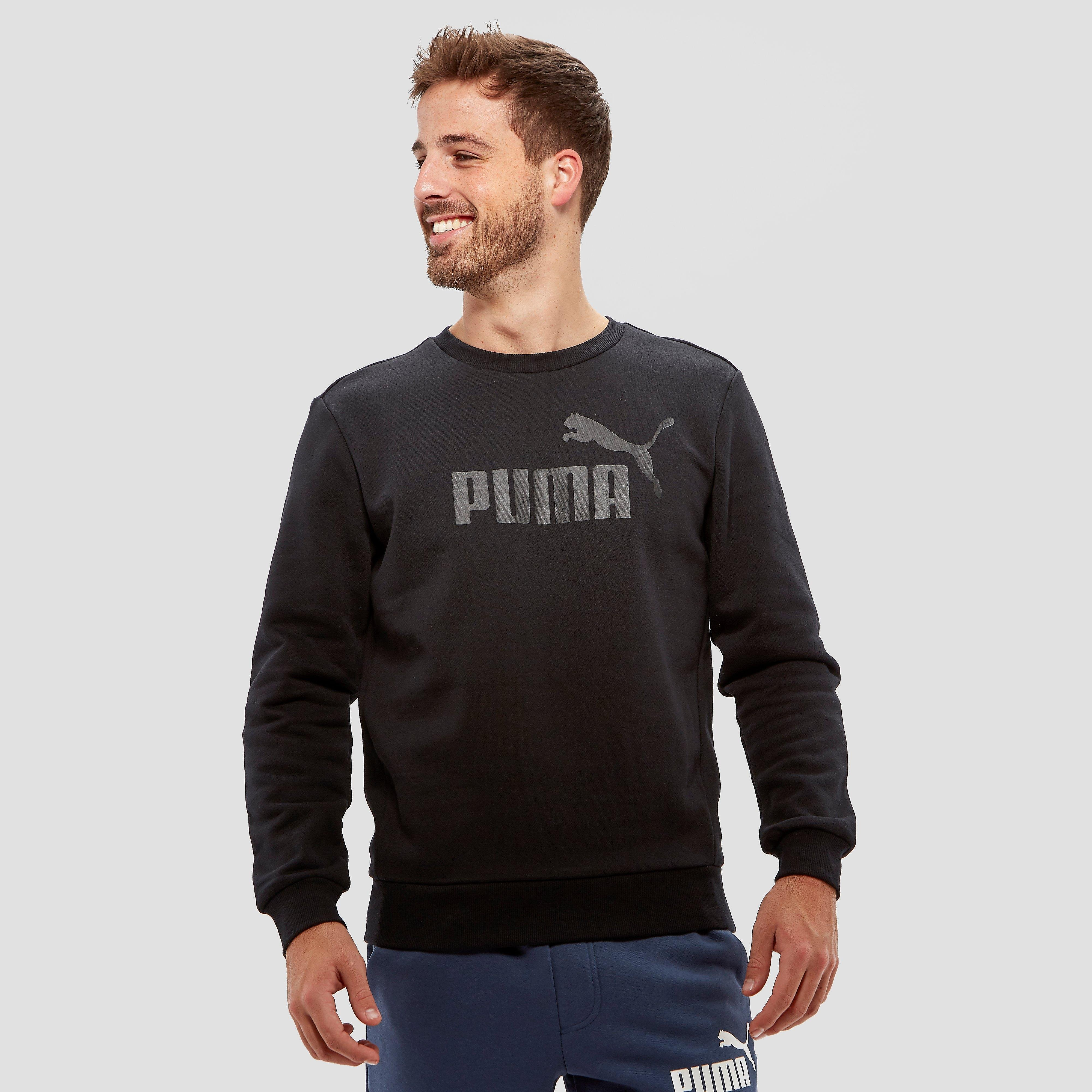PUMA LOGO SWEATER ZWART HEREN
