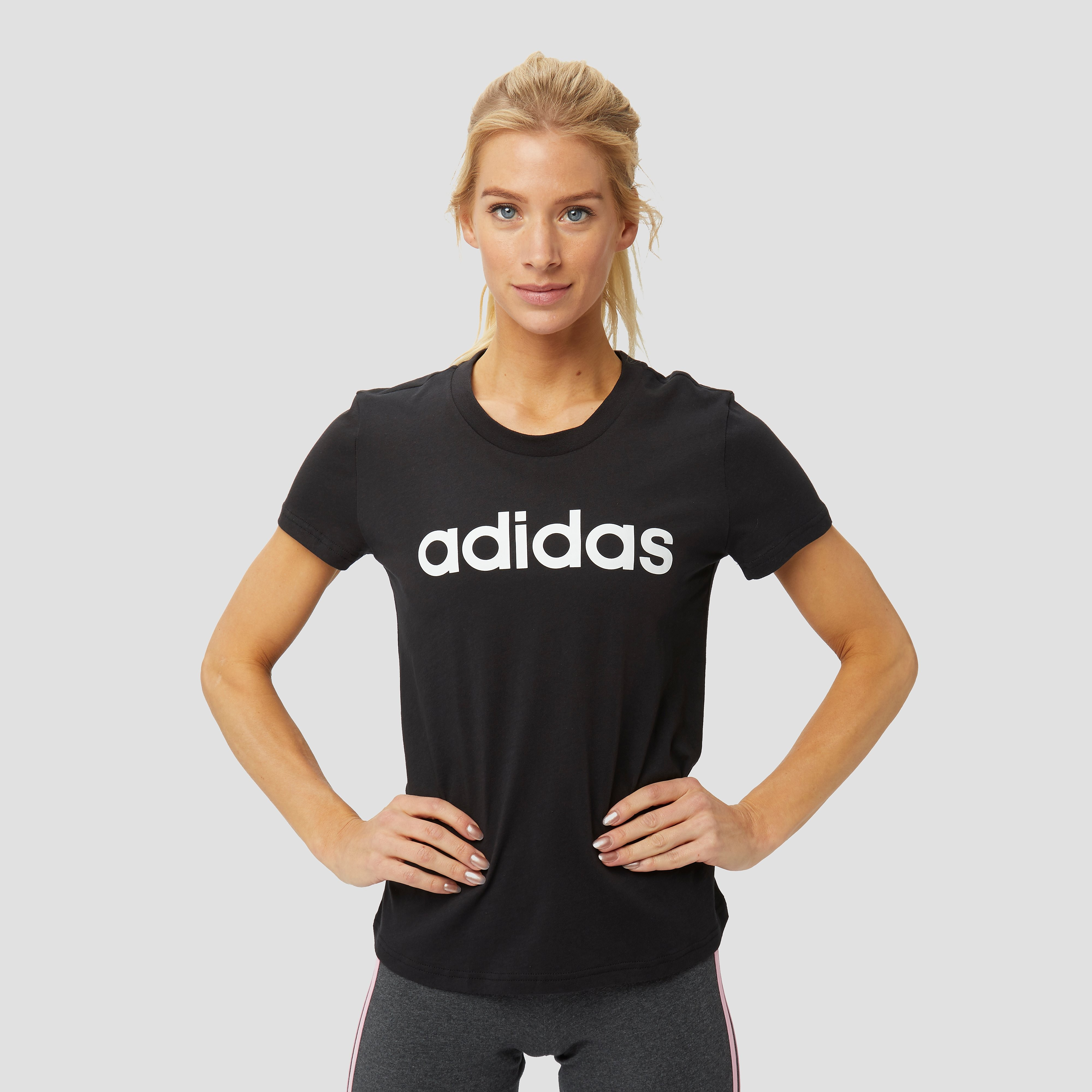 Adidas Online adidas Essentials linear slim shirt zwart