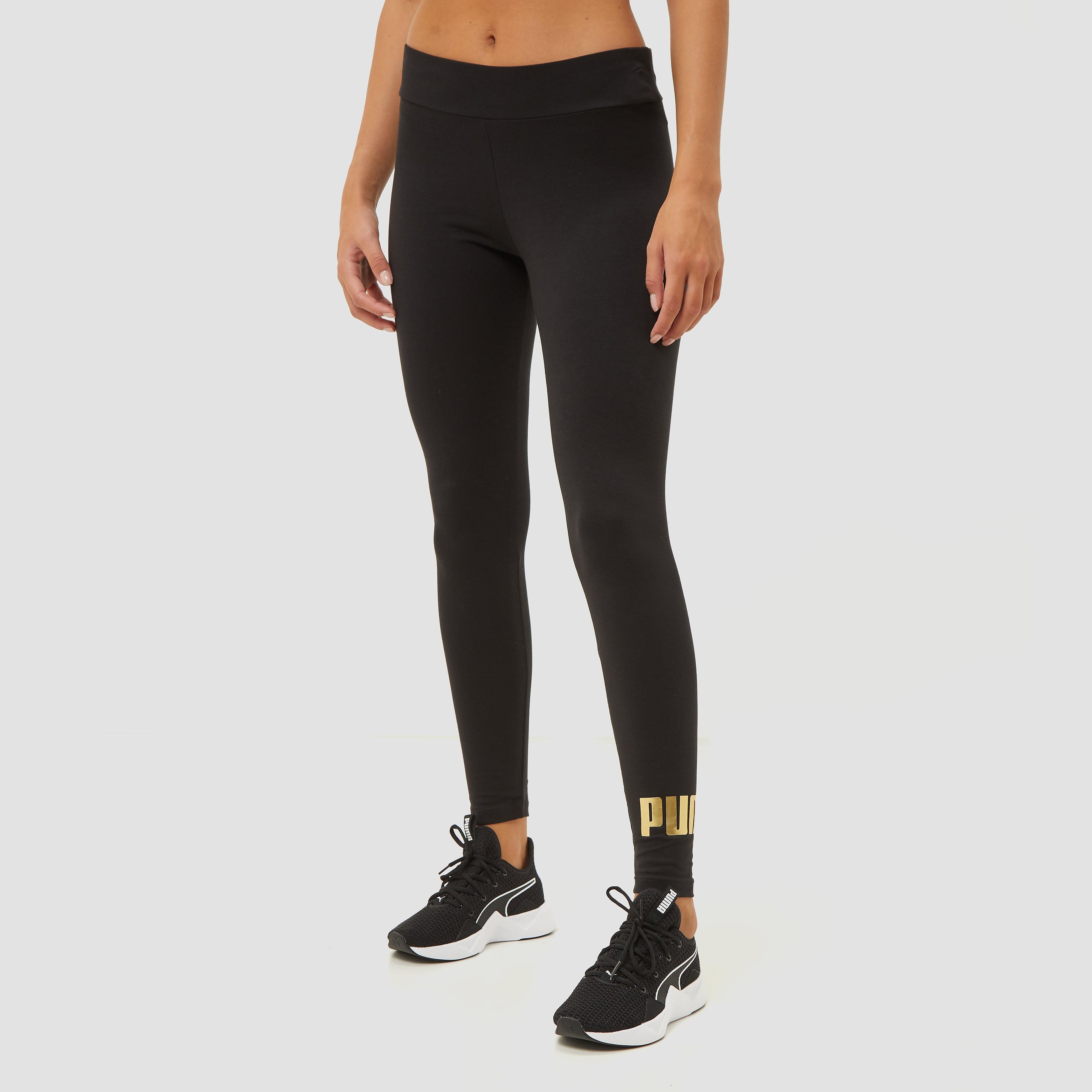 Puma Puma essentials+ metallic legging zwart/goud dames dames
