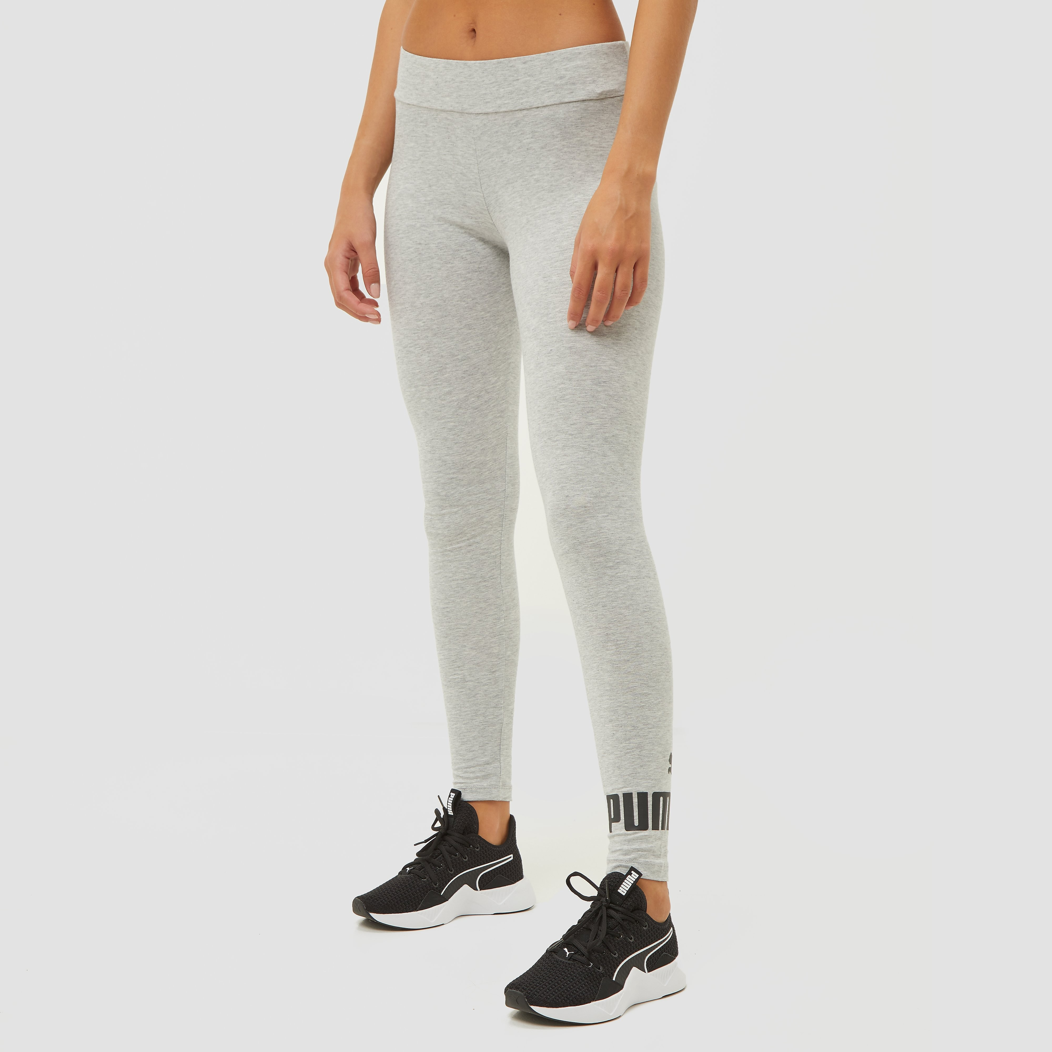 Puma Puma essentials logo legging grijs dames dames