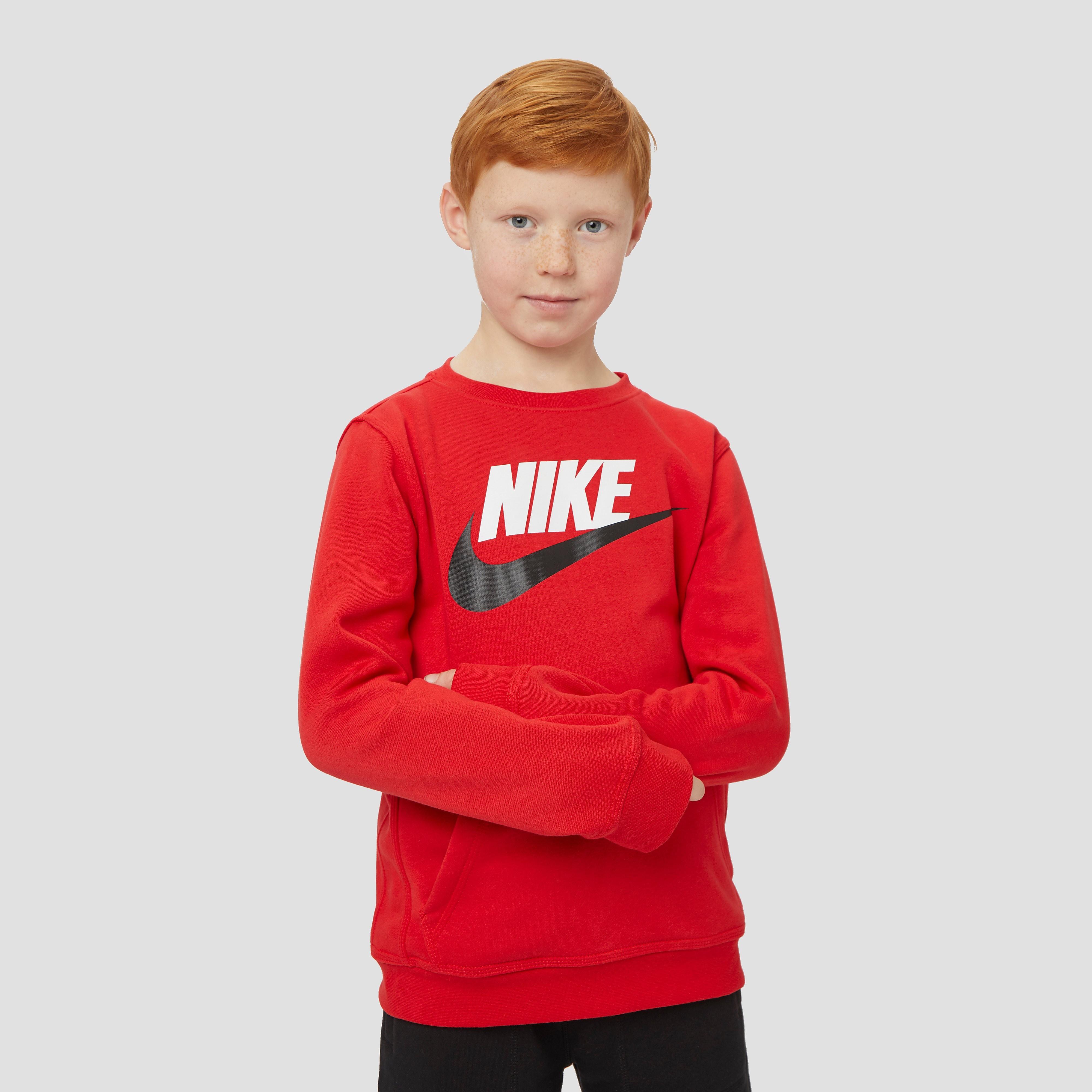 NIKE Sportswear club fleece sweater rood kinderen Kinderen