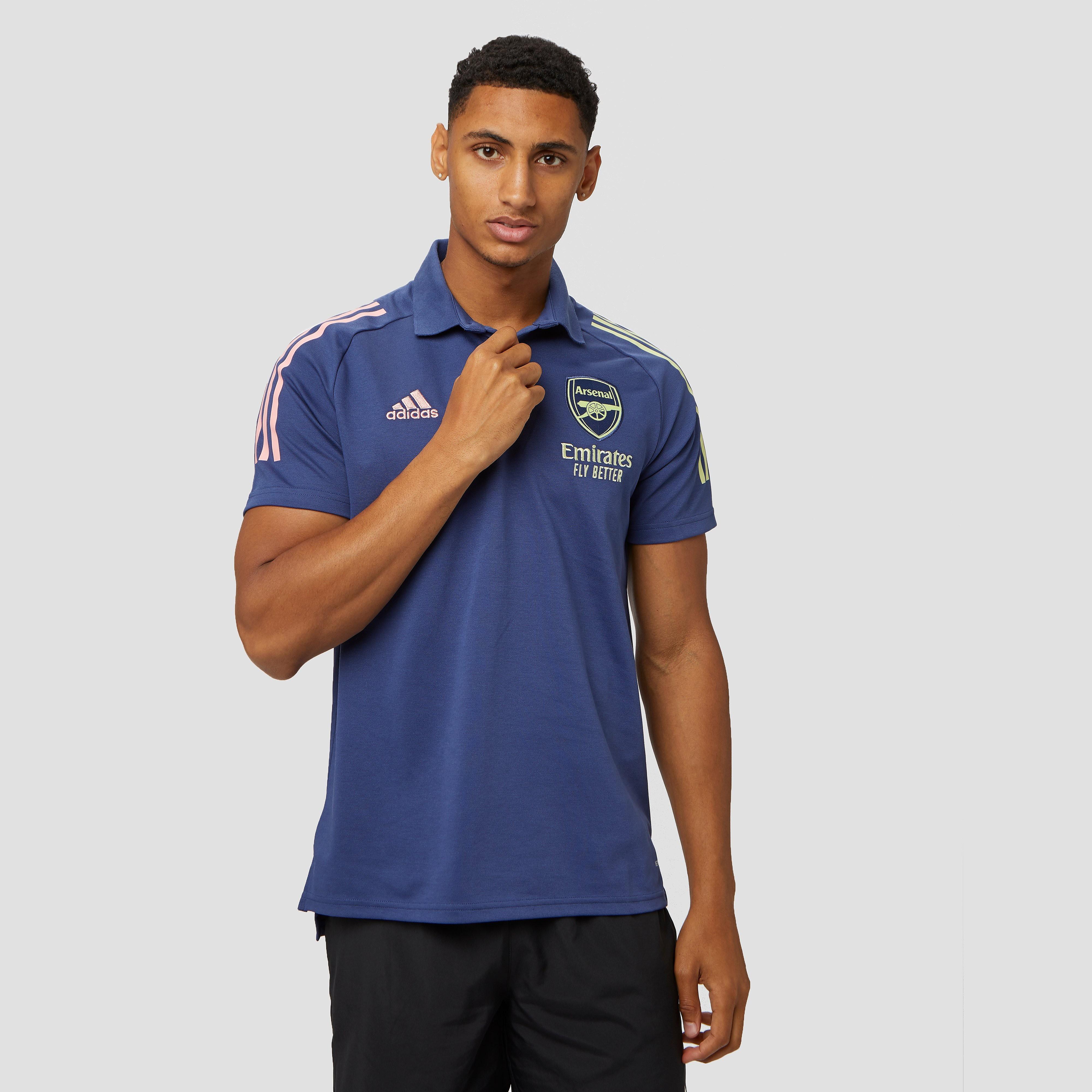 adidas Arsenal fc training polo 20/21 blauw heren Heren