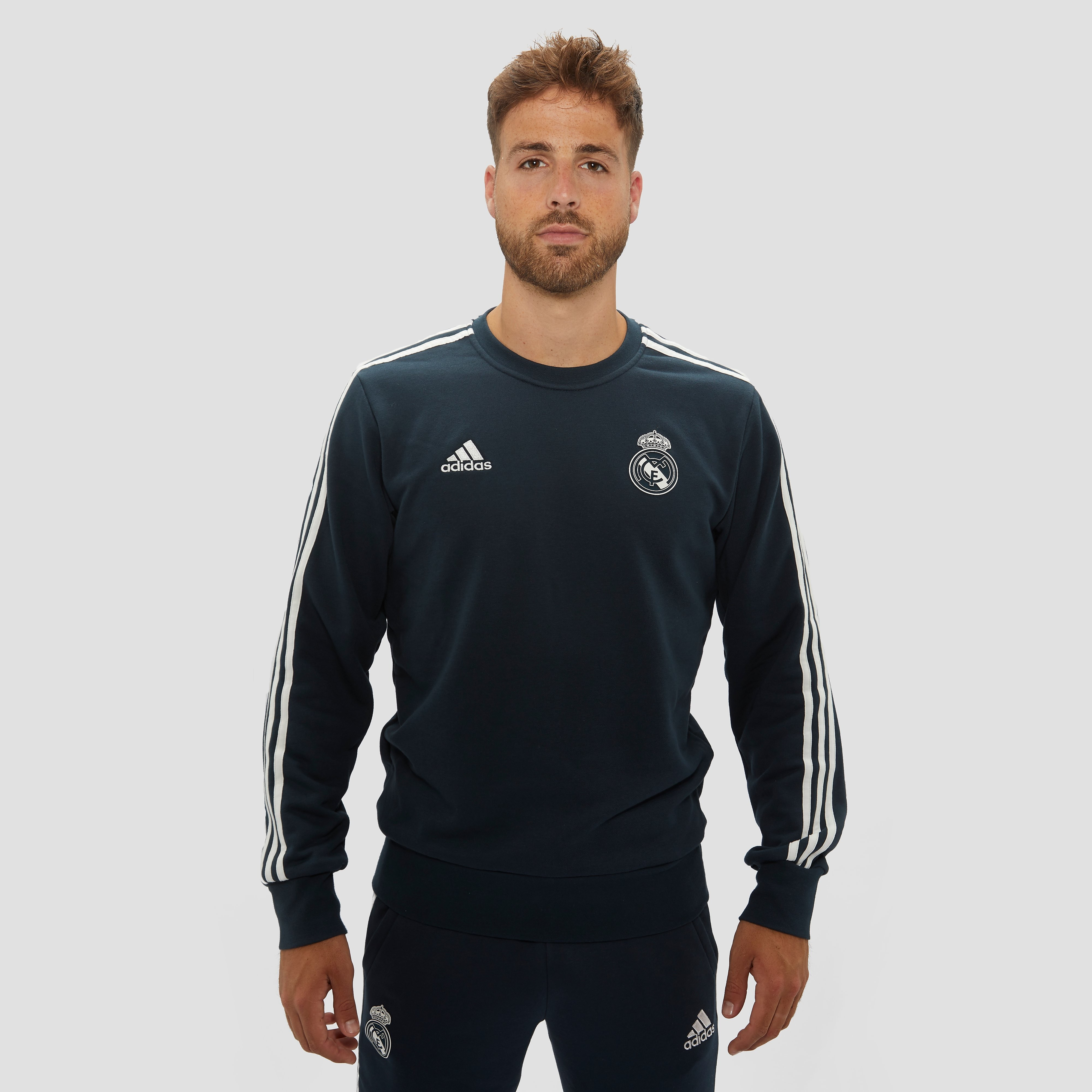 ADIDAS REAL MADRID SWEATER 18/19 BLAUW HEREN