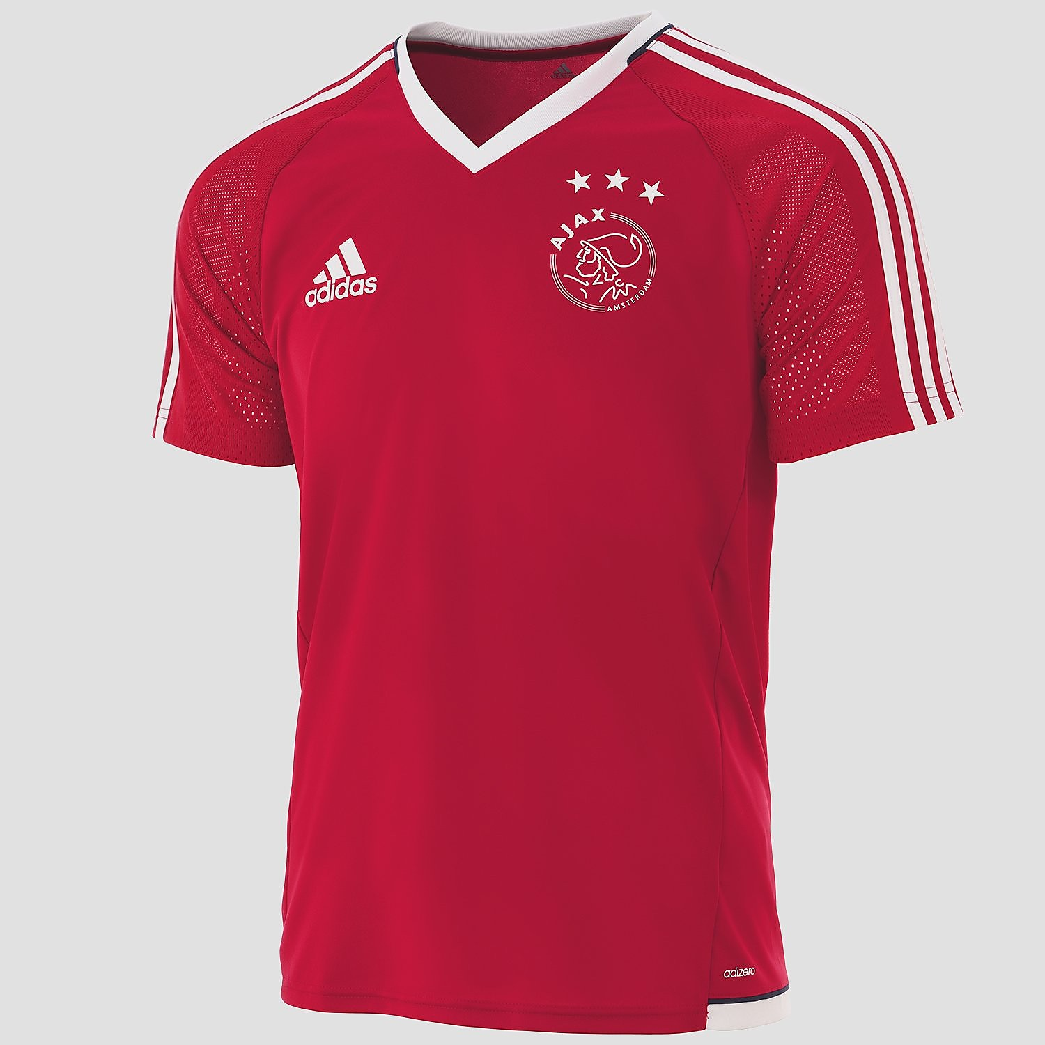ADIDAS AJAX THUIS TRAININGSSHIRT 17/18 ROOD/WIT HEREN
