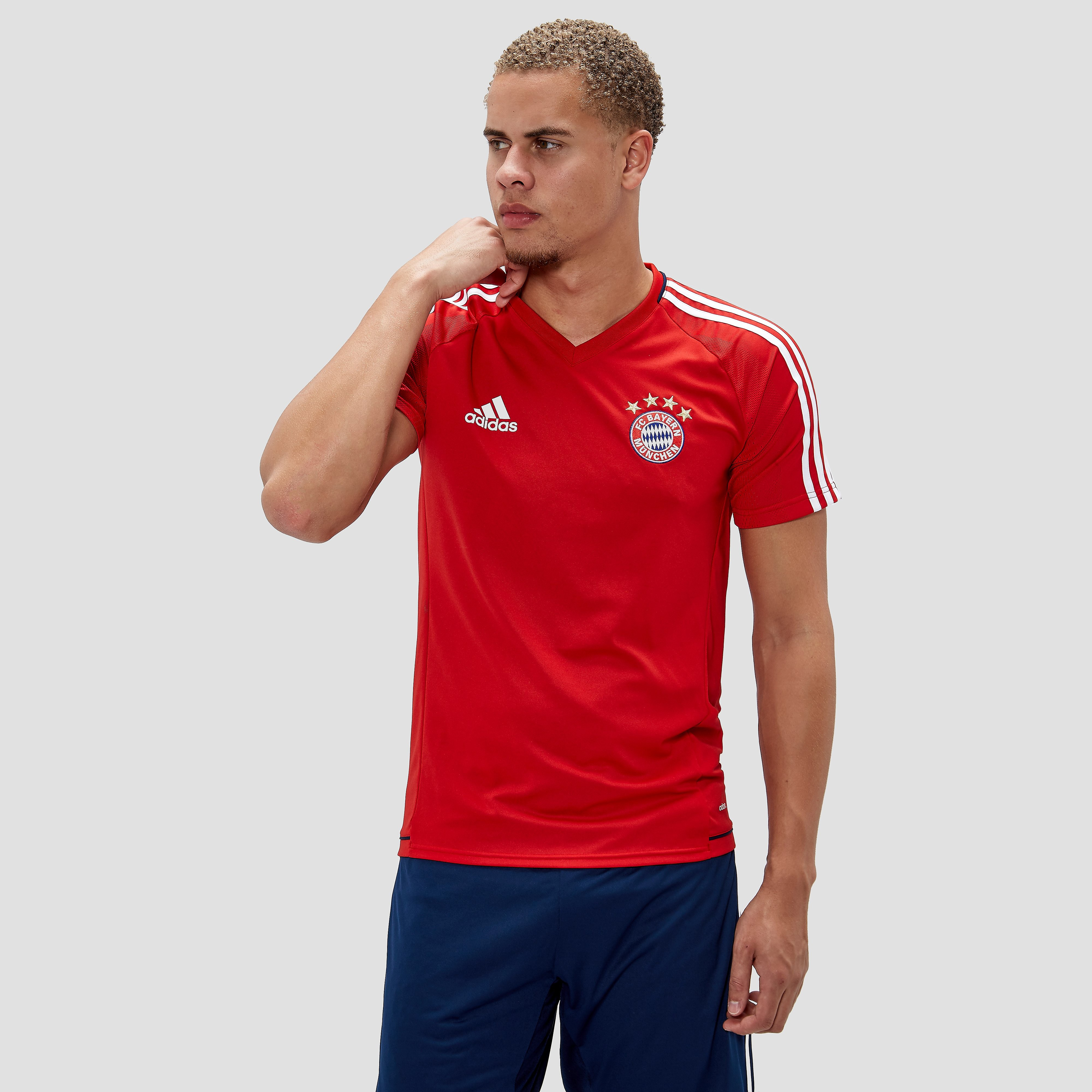 ADIDAS FC BAYERN MÜNCHEN TRAININGSSHIRT 17/18 ROOD/WIT HEREN