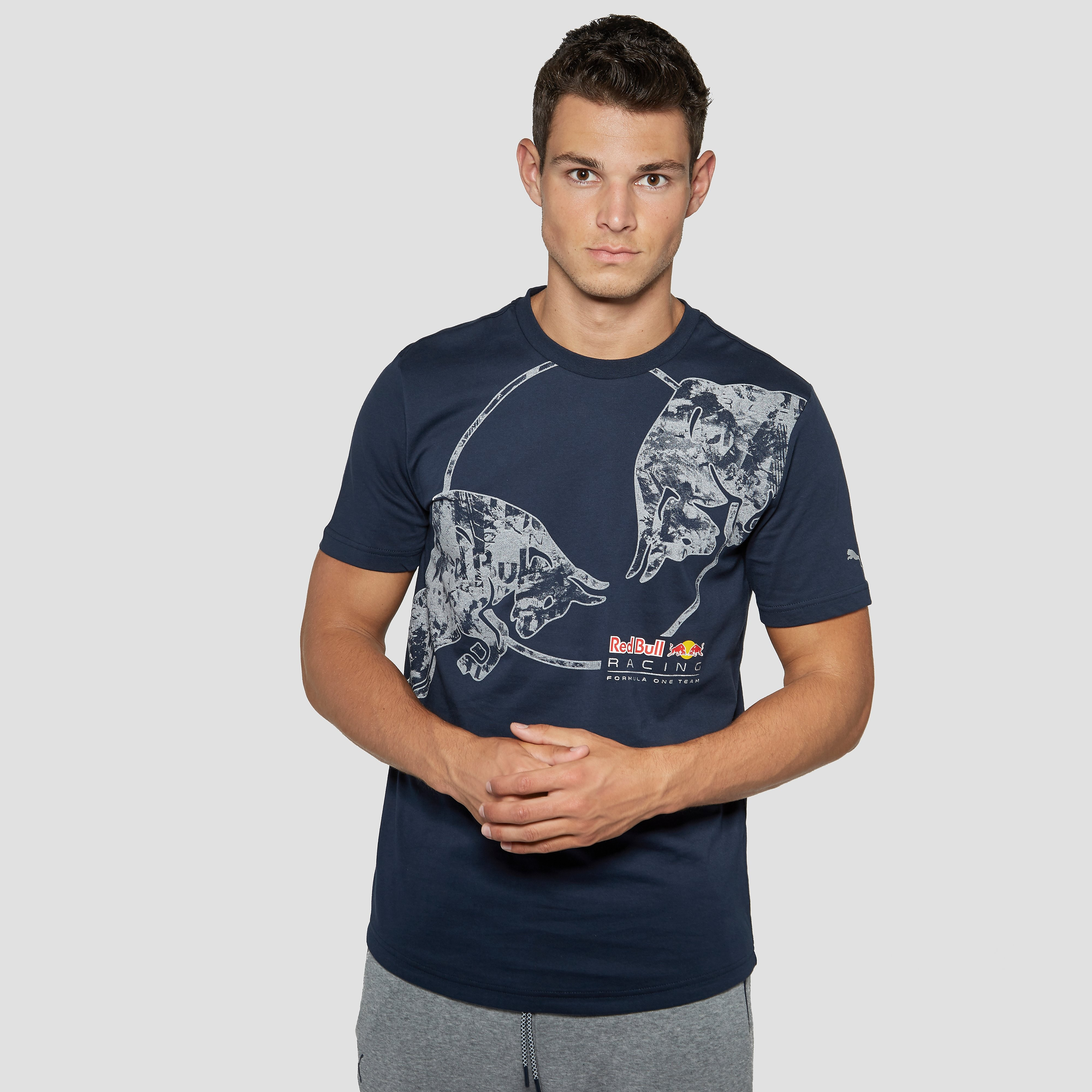 PUMA RED BULL RACING GRAPHIC SHIRT BLAUW HEREN