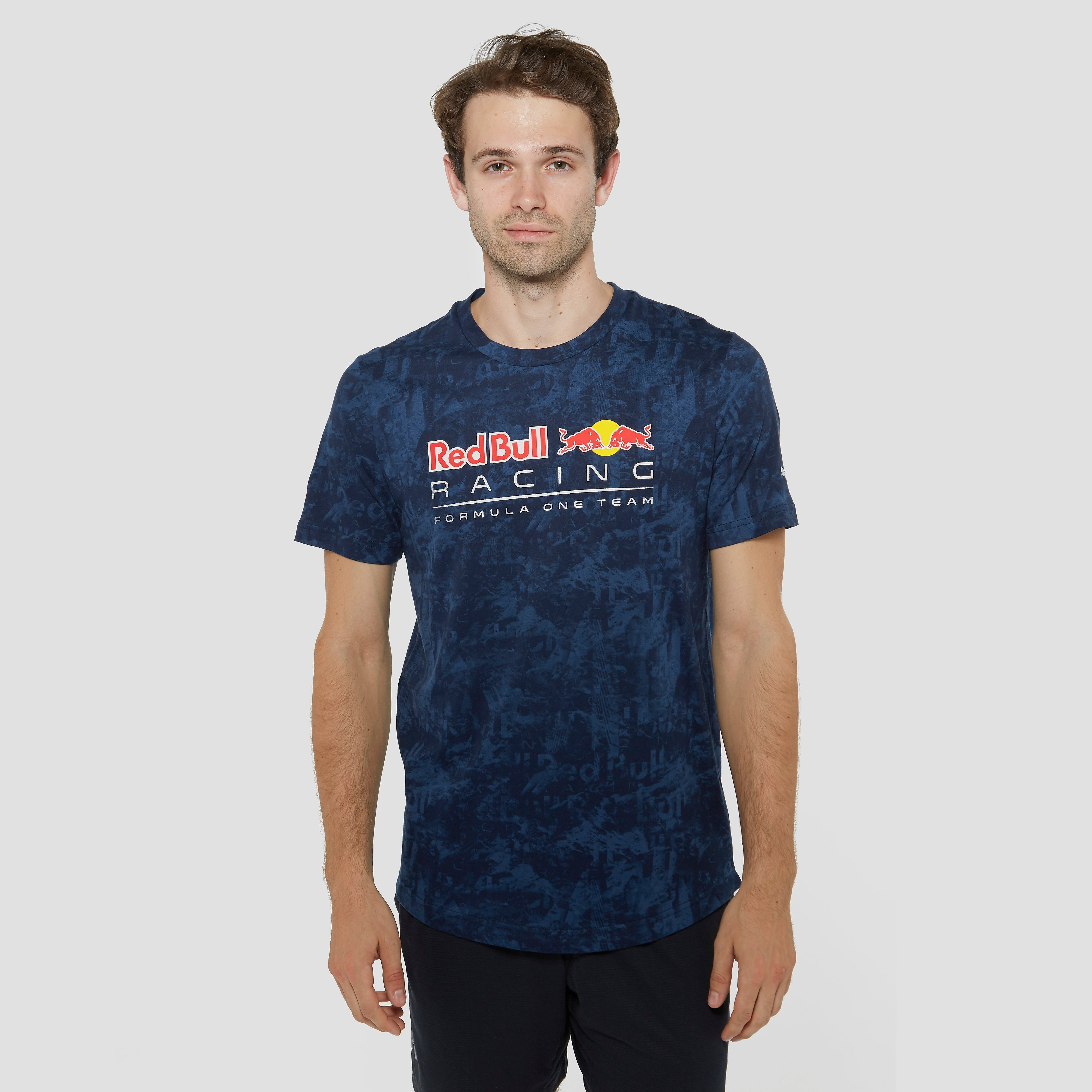 PUMA RED BULL RACING ALLOVER SHIRT BLAUW HEREN