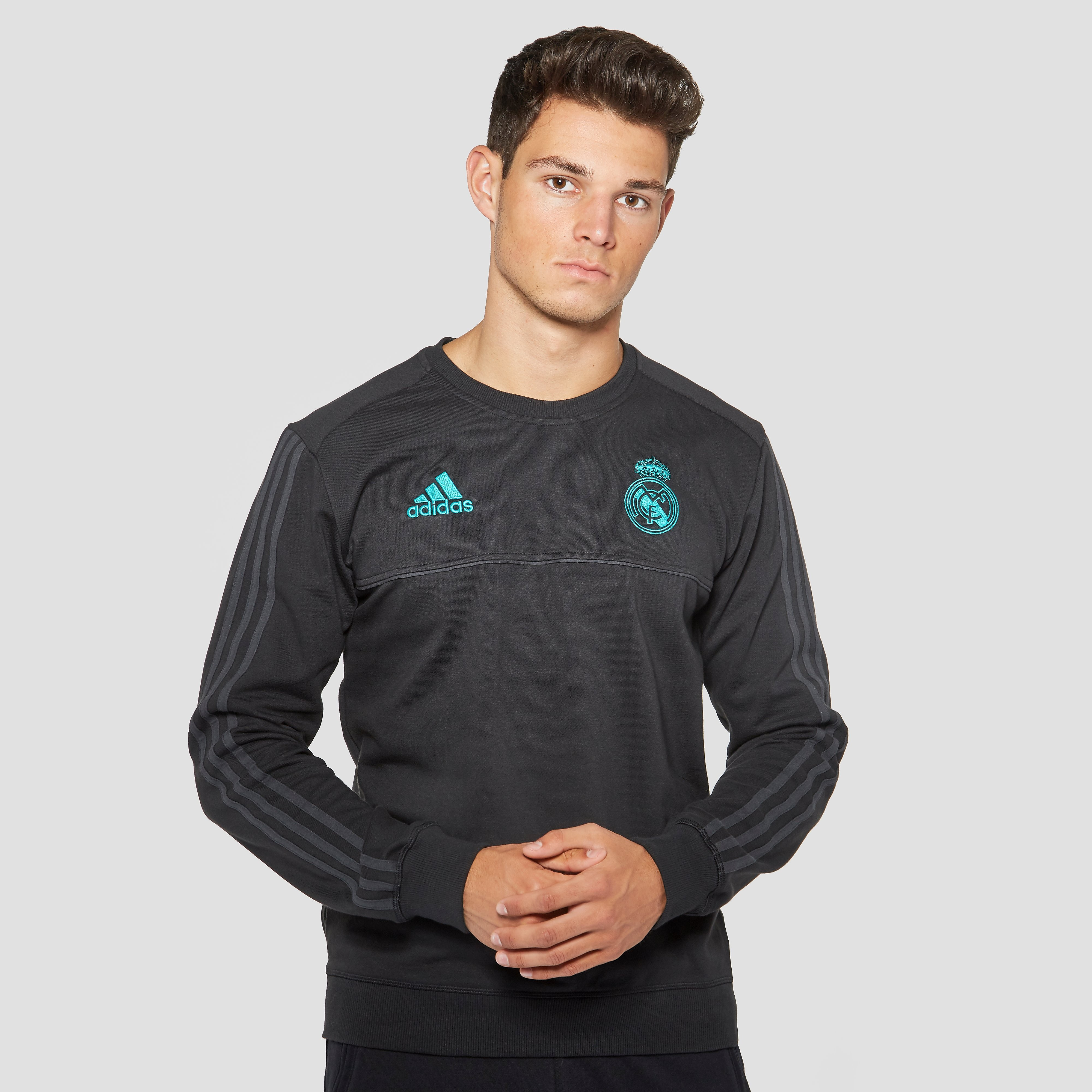 ADIDAS REAL MADRID SWEATER ZWART/GROEN HEREN