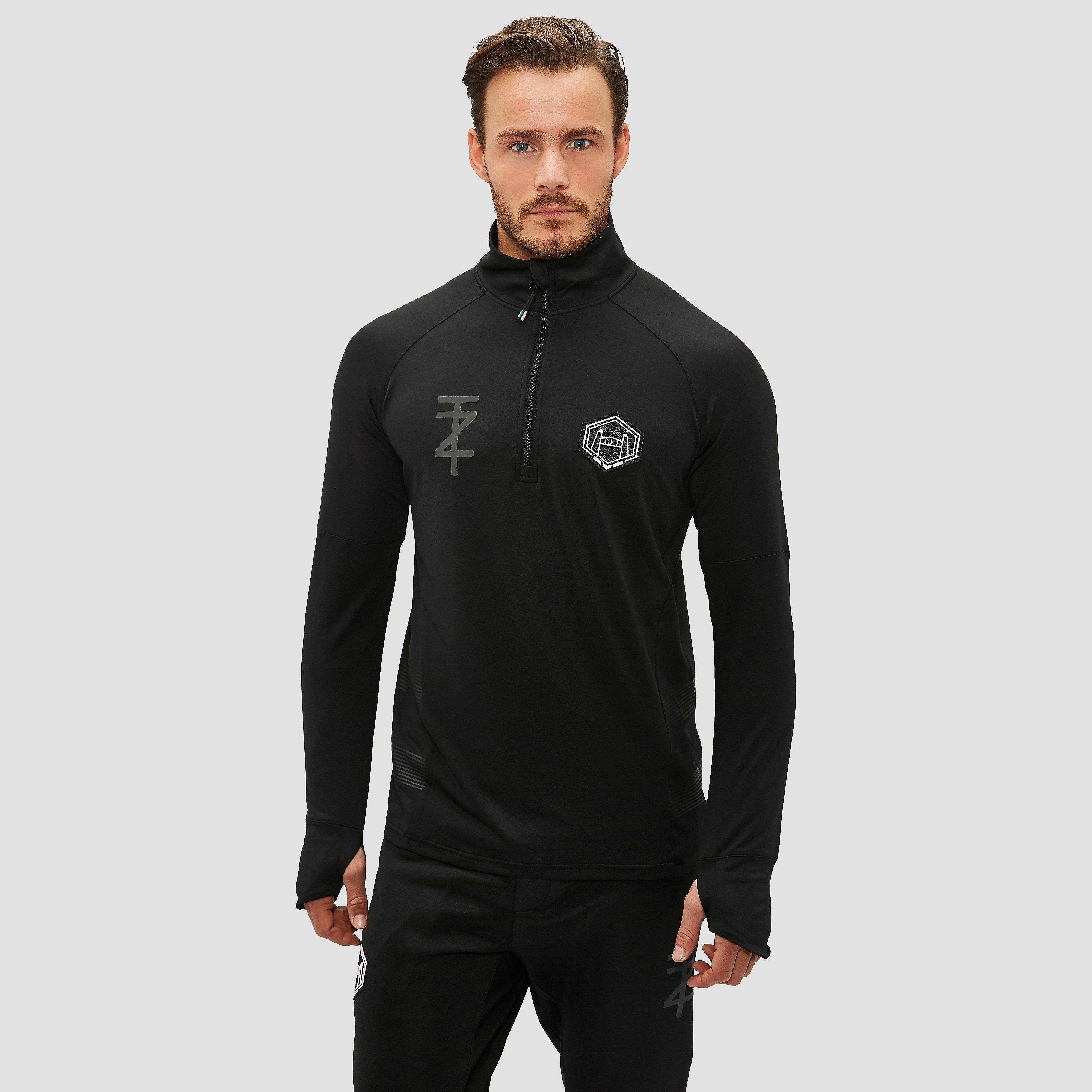 TOUZANI ELASTICO HALF ZIP DRILL TRAININGSTOP ZWART HEREN
