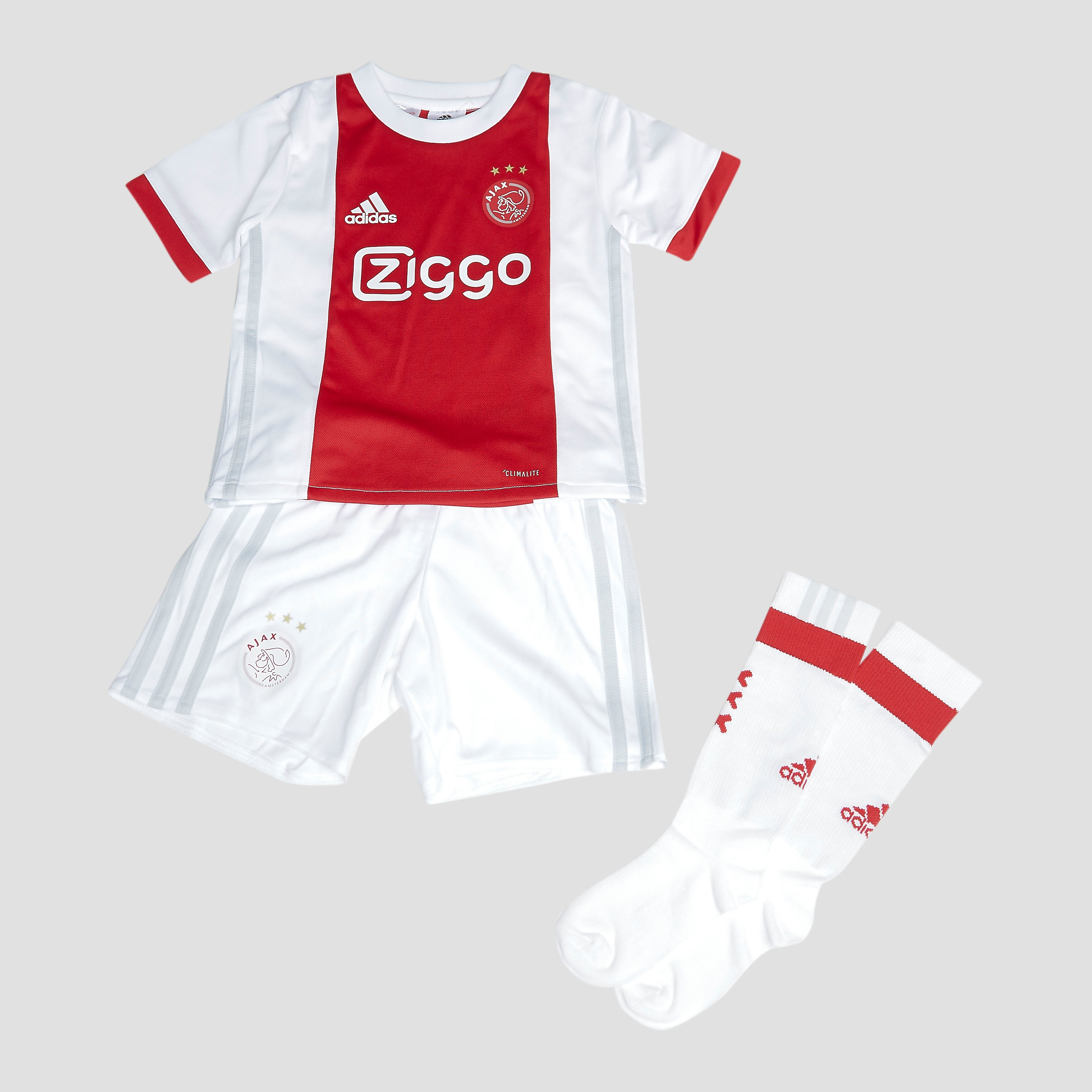 ADIDAS AJAX THUISTENUE 17/18 WIT/ROOD BABY
