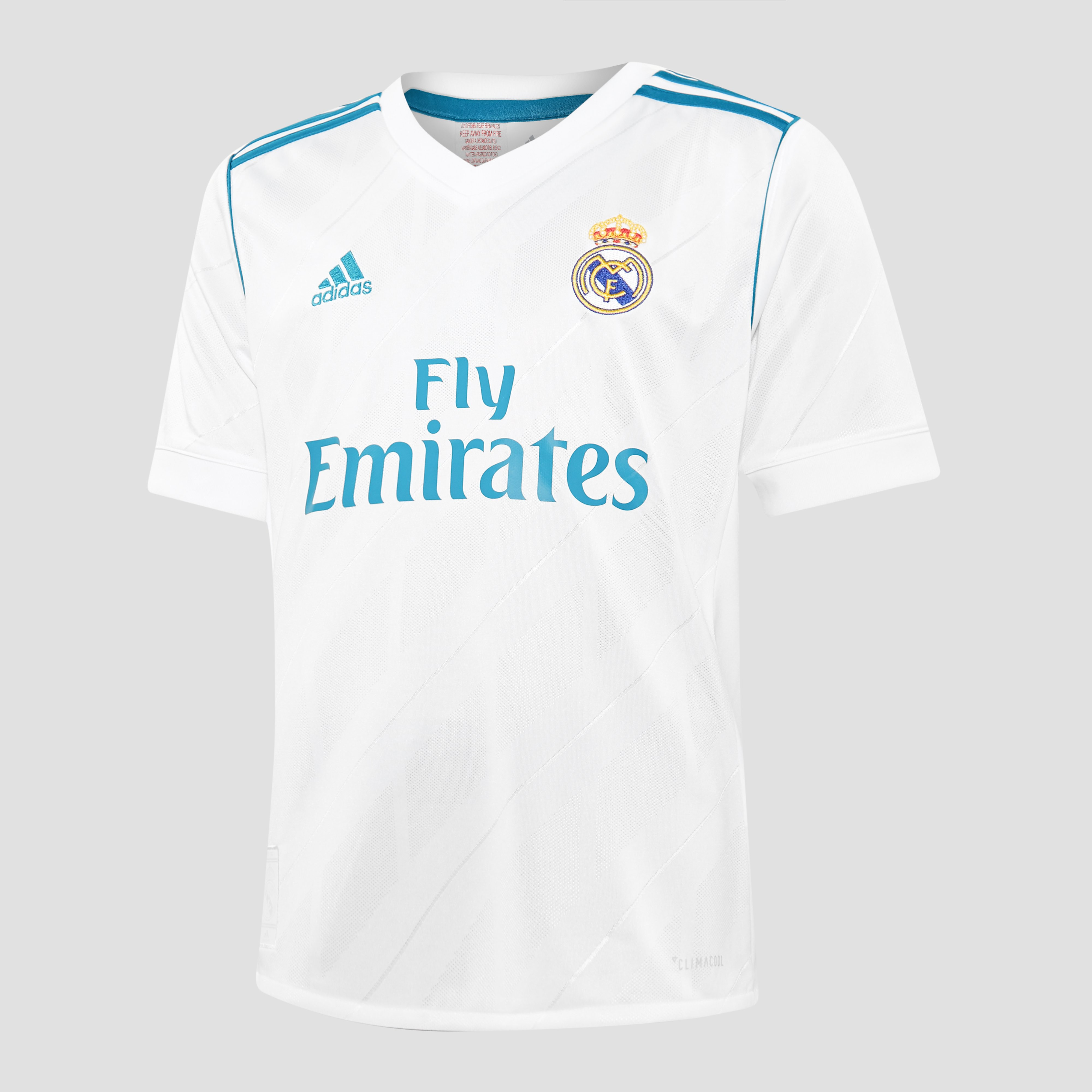 ADIDAS REAL MADRID THUISSHIRT 17/18 WIT/GROEN KINDEREN