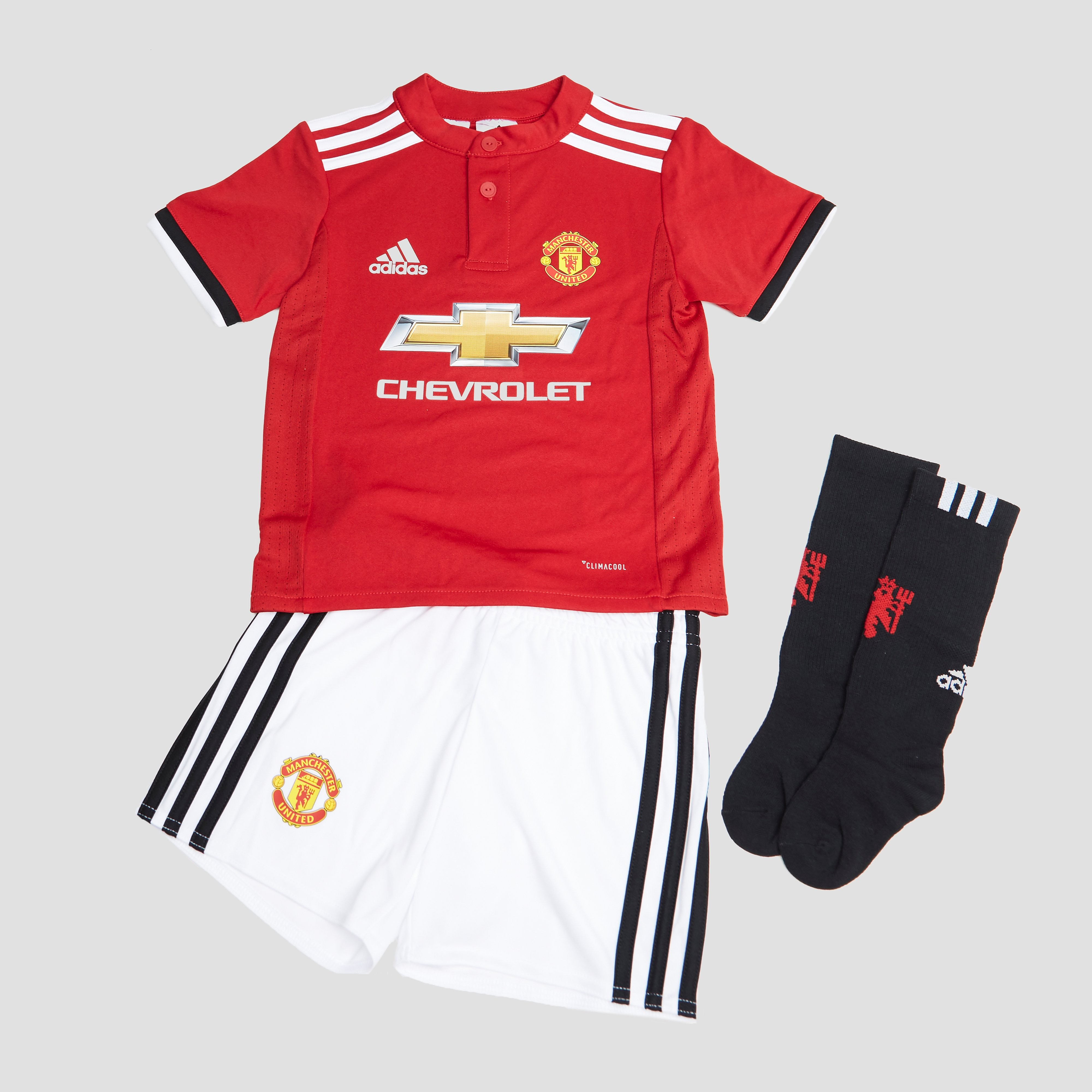 ADIDAS MANCHESTER UNITED FC THUISTENUE 17/18 ROOD/WIT KINDEREN