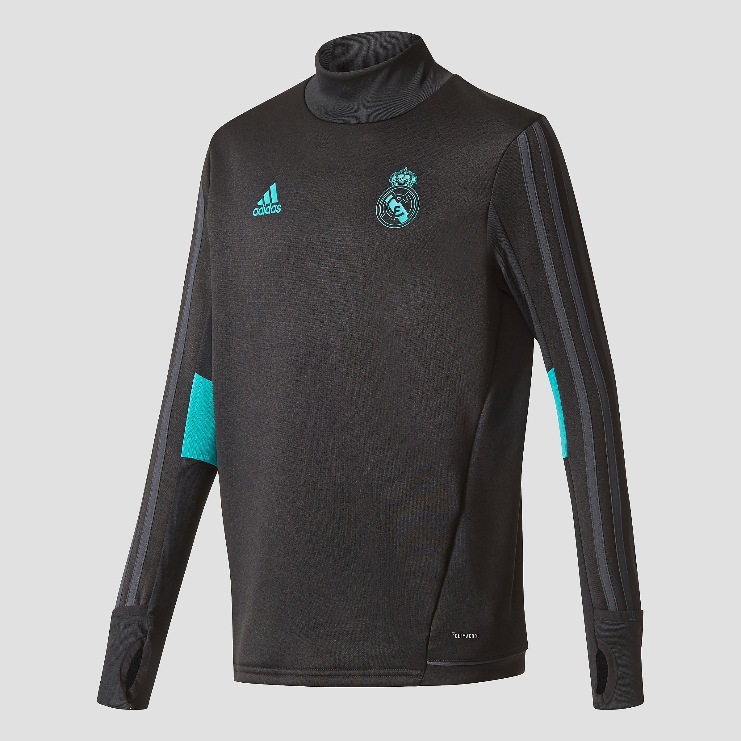 ADIDAS REAL MADRID TRAININGSTOP 17/18 ZWART KINDEREN