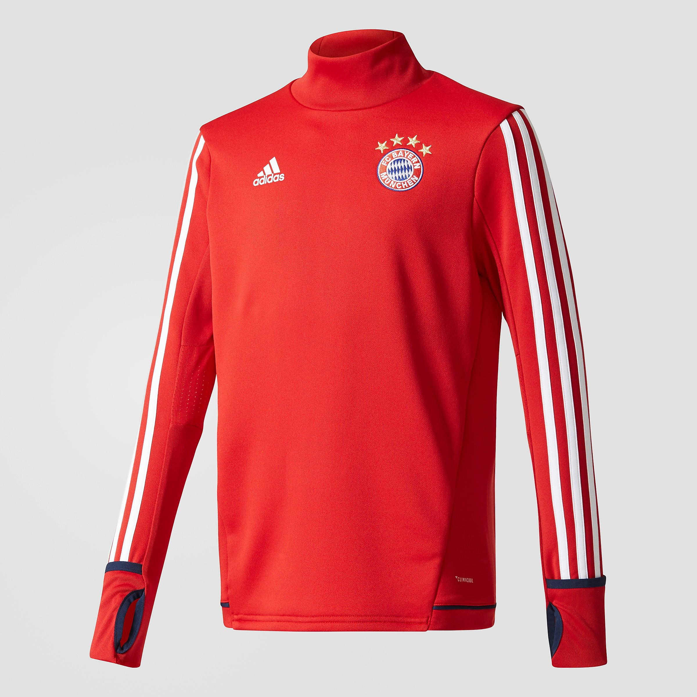 ADIDAS FC BAYERN MÜNCHEN TRAININGSTOP 17/18 ROOD/WIT KINDEREN