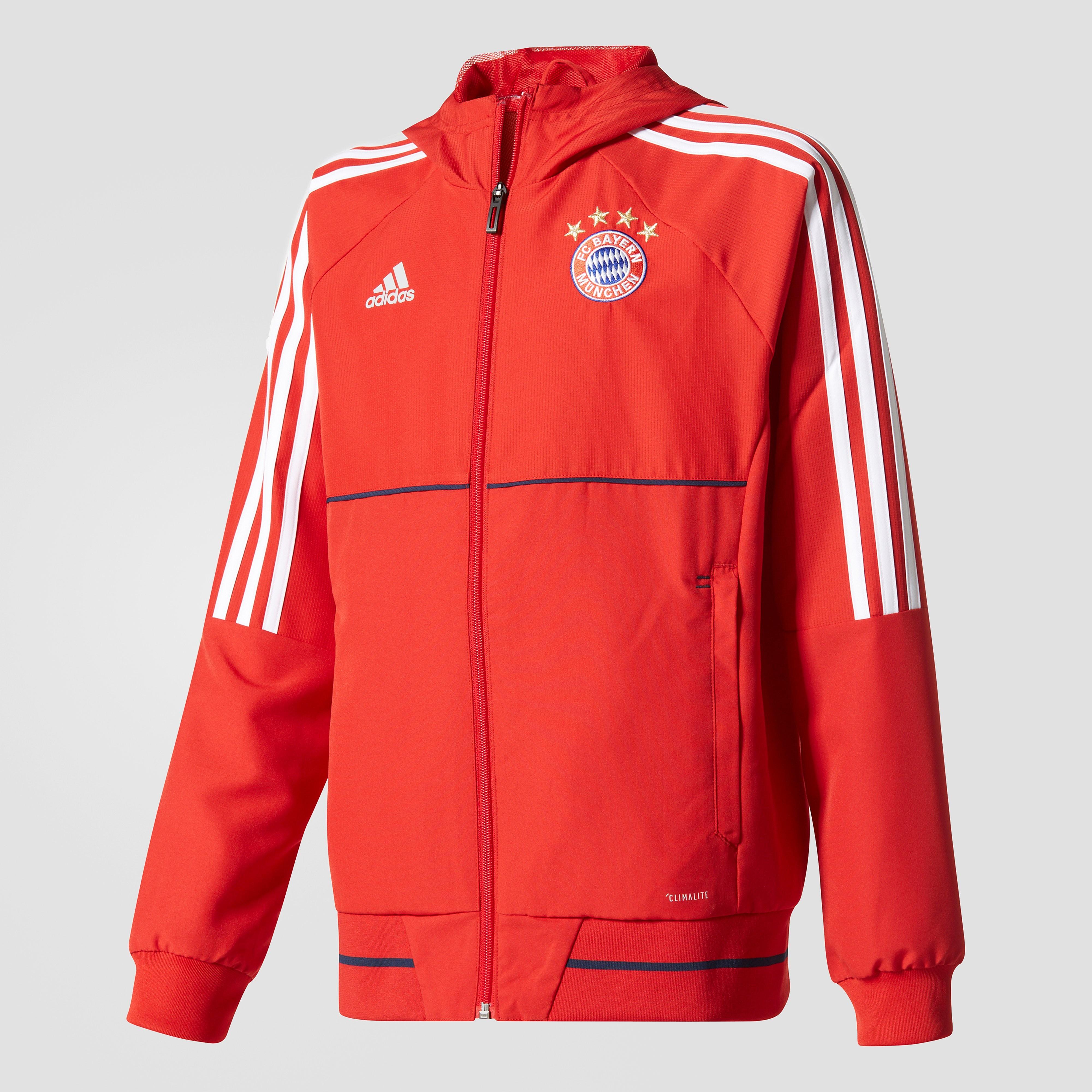 ADIDAS FC BAYERN MÜNCHEN PRESENTATIEJAS 17/18 ROOD/WIT KINDEREN