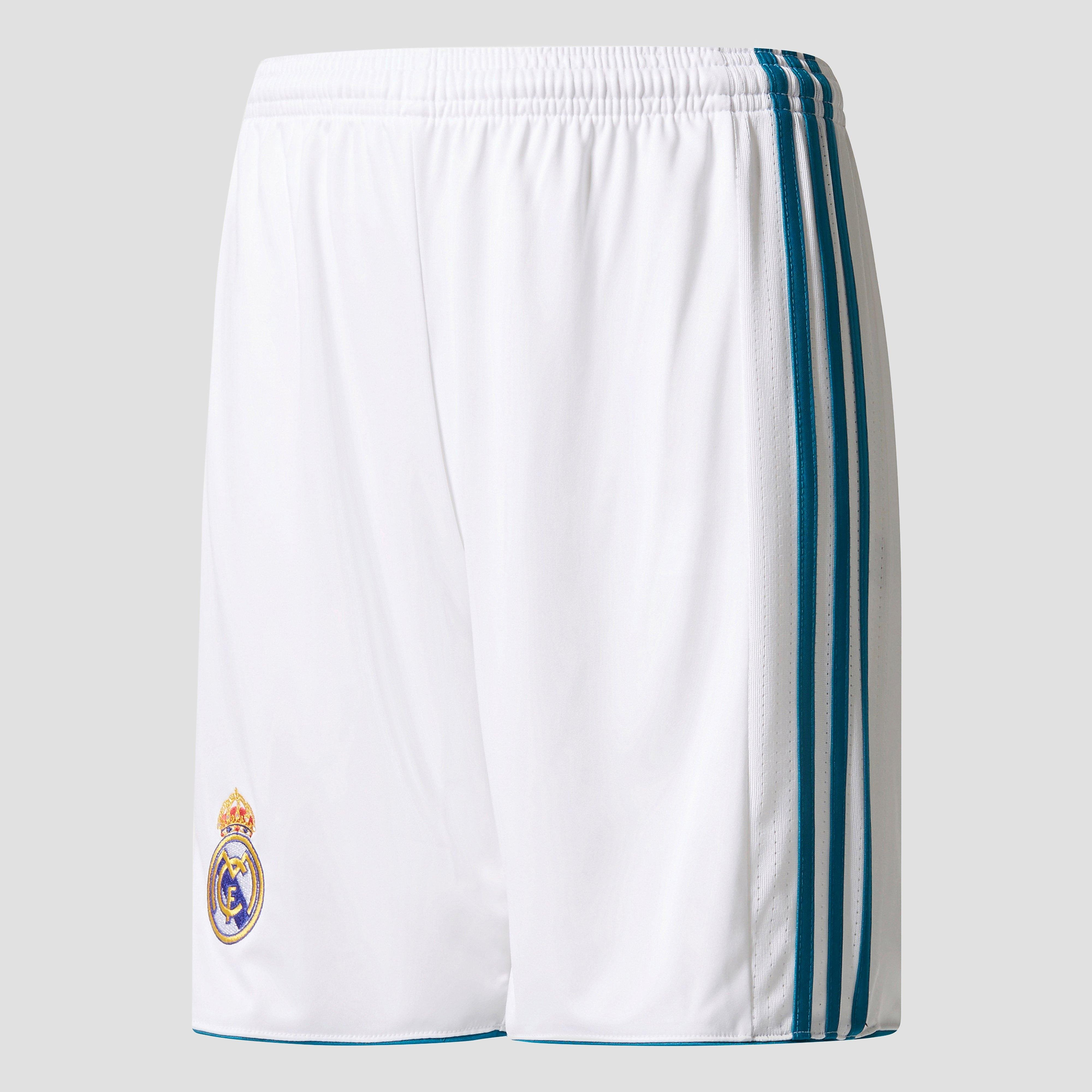 ADIDAS REAL MADRID THUISSHORT 17/18 WIT/GROEN KINDEREN