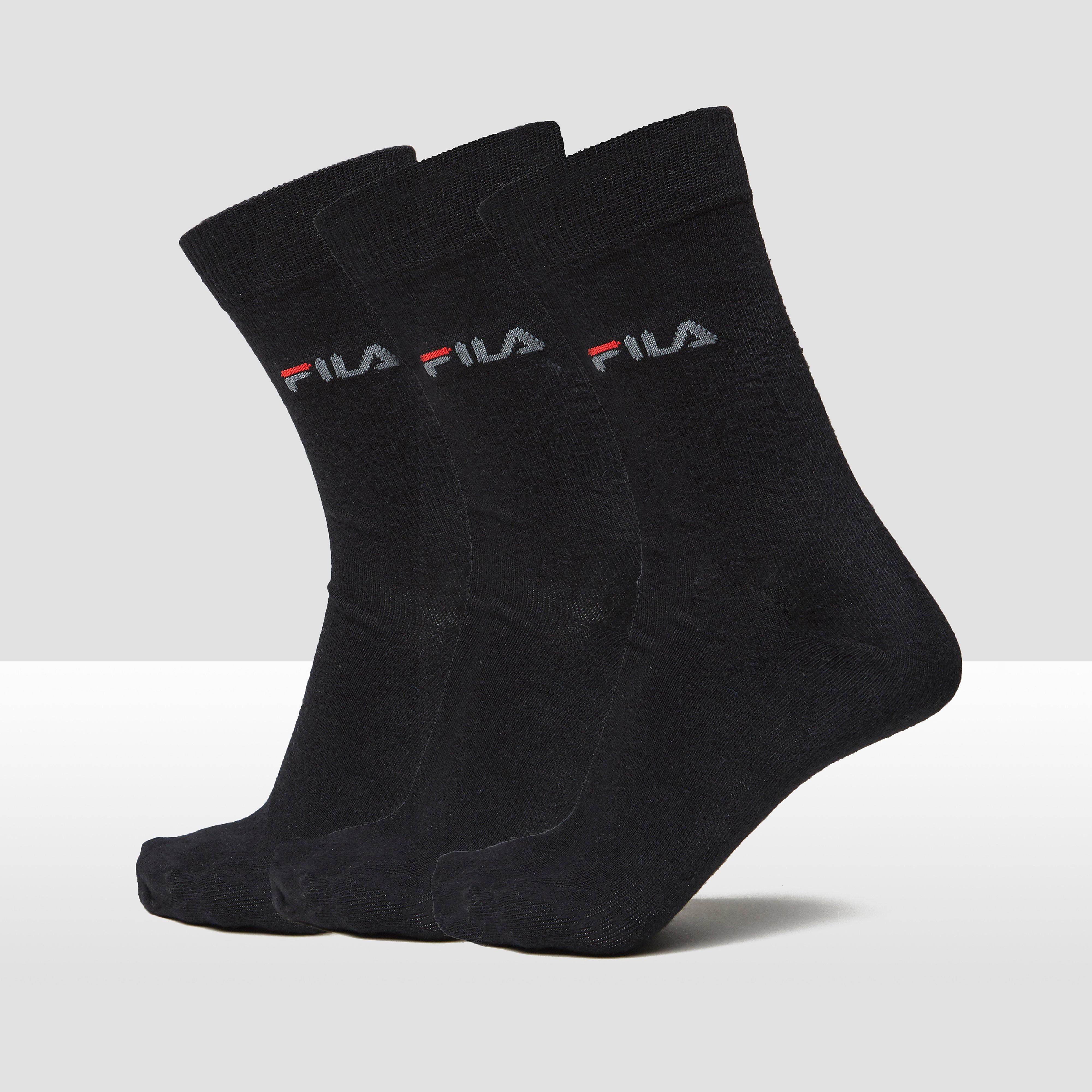 FILA DRESSED SOKKEN 3-PACK ZWART UNISEX