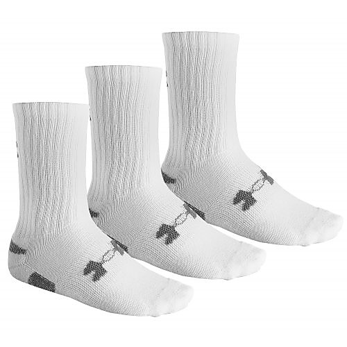 UNDER ARMOUR HEATGEAR SPORTSOKKEN 3-PACK WIT