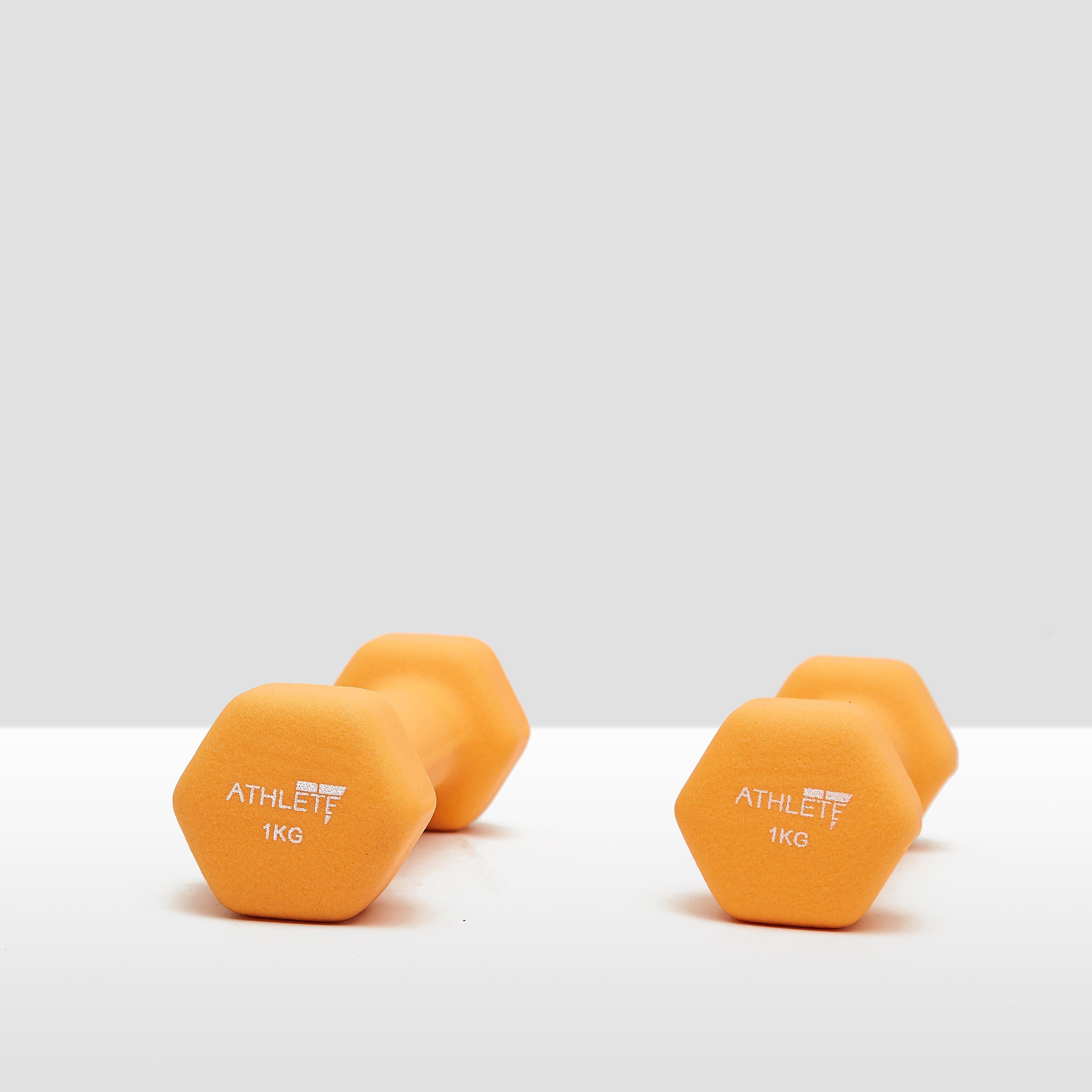 ATHLETE NEOPREEN DUMBBELL 2x 1 KILOGRAM