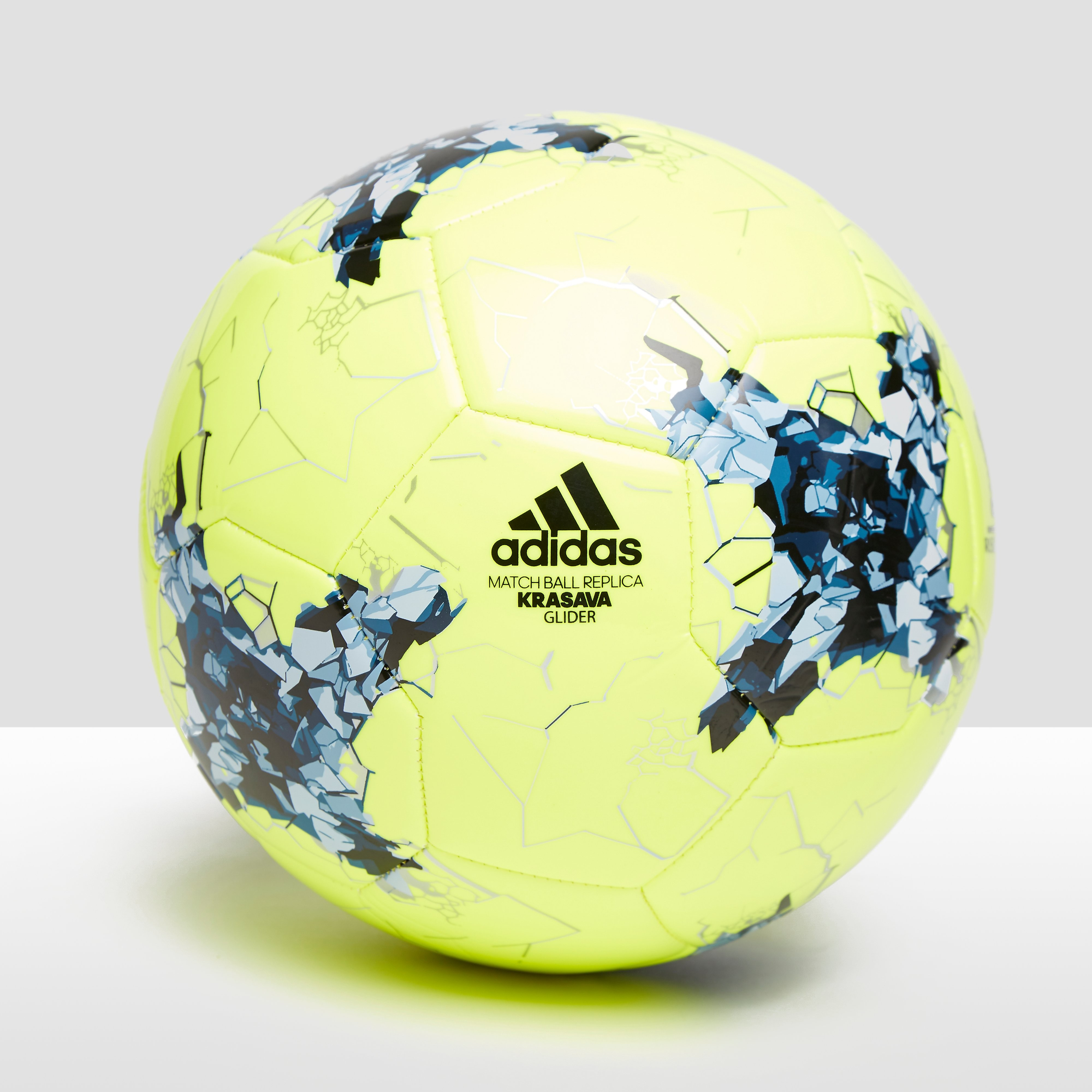 ADIDAS CONFEDERATIONS CUP GLIDER VOETBAL GEEL/BLAUW