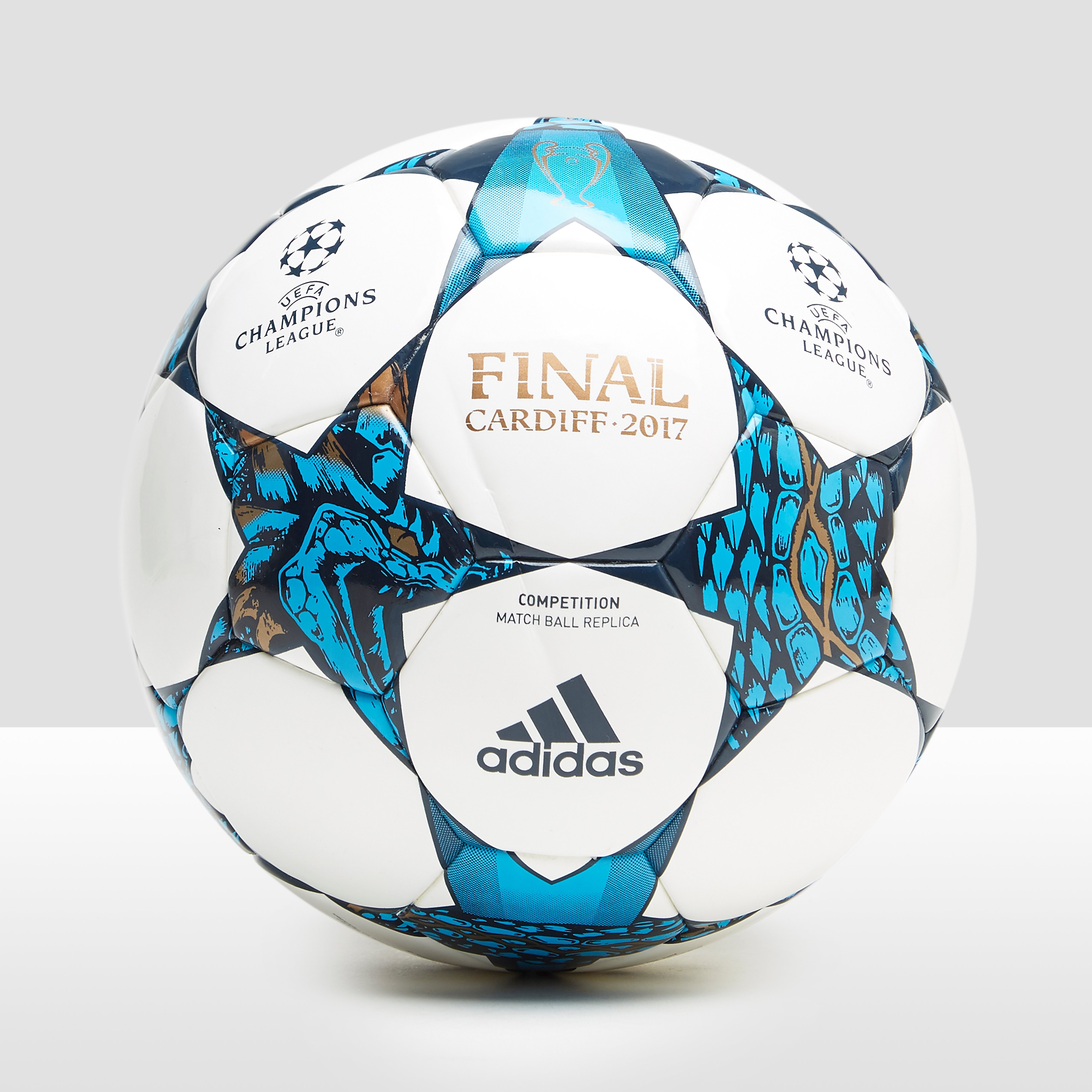 ADIDAS FINALE CARDIFF VOETBAL WIT/BLAUW
