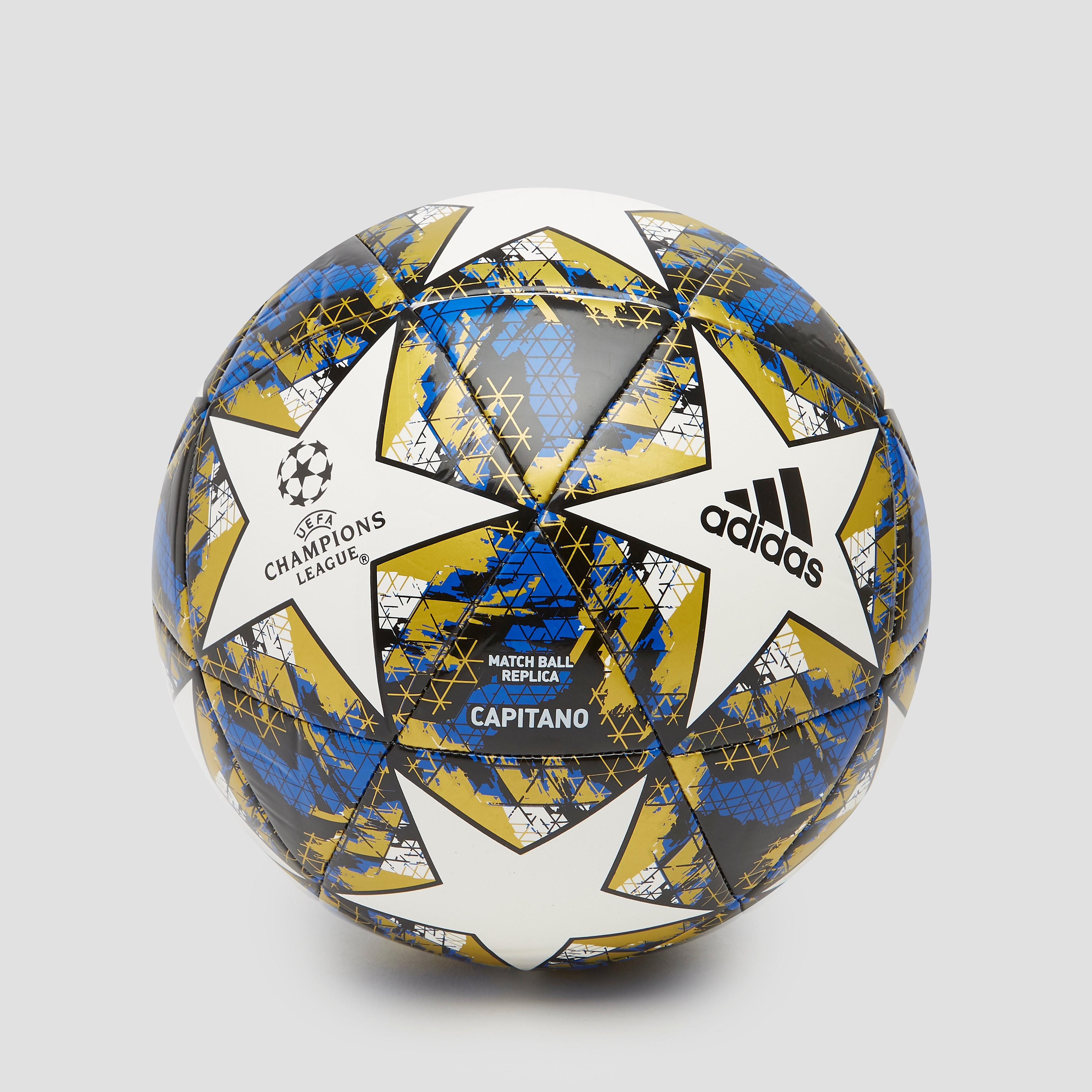 adidas Finale 19 capitano voetbal wit/blauw Kinderen