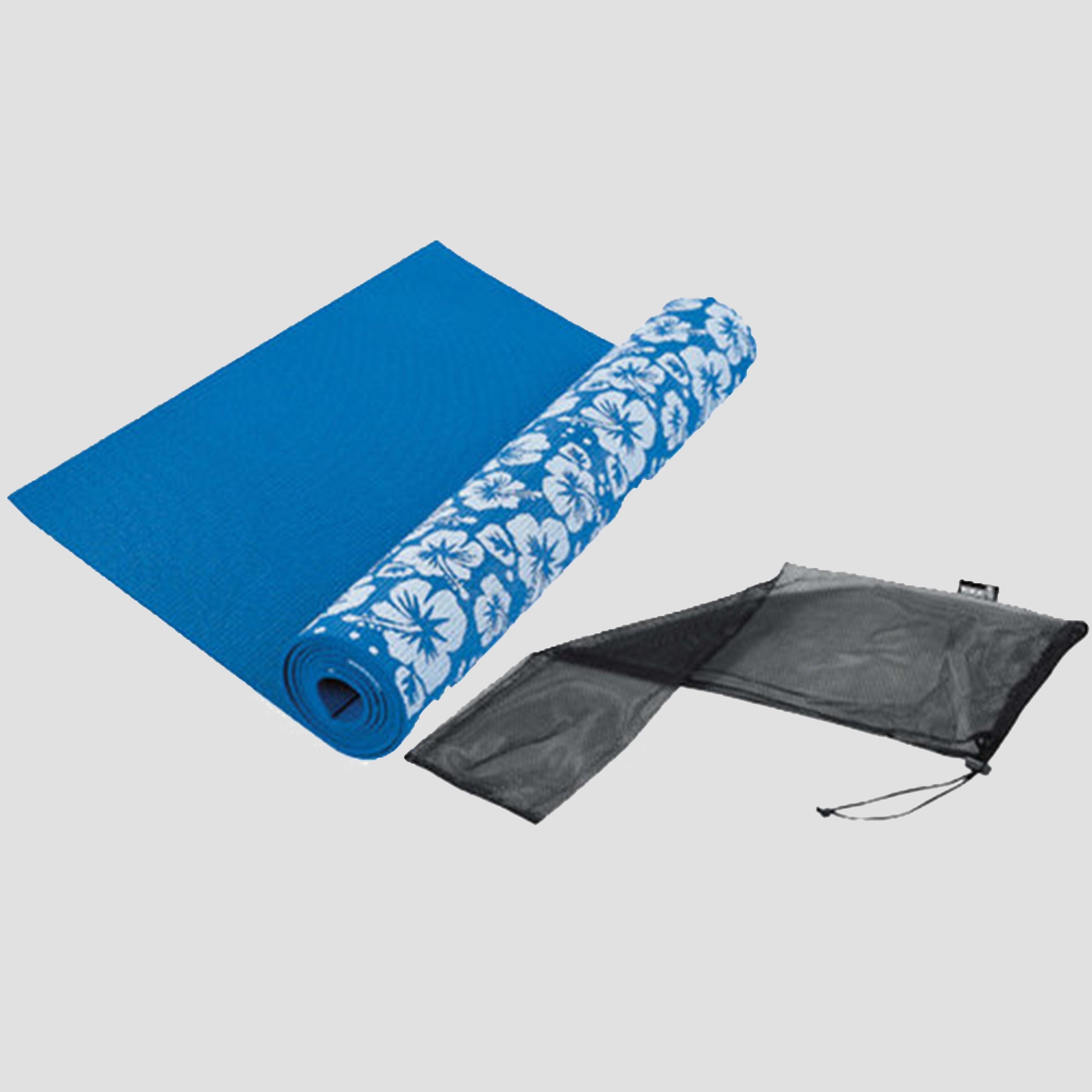 TUNTURI Yogamat print blauw Kinderen