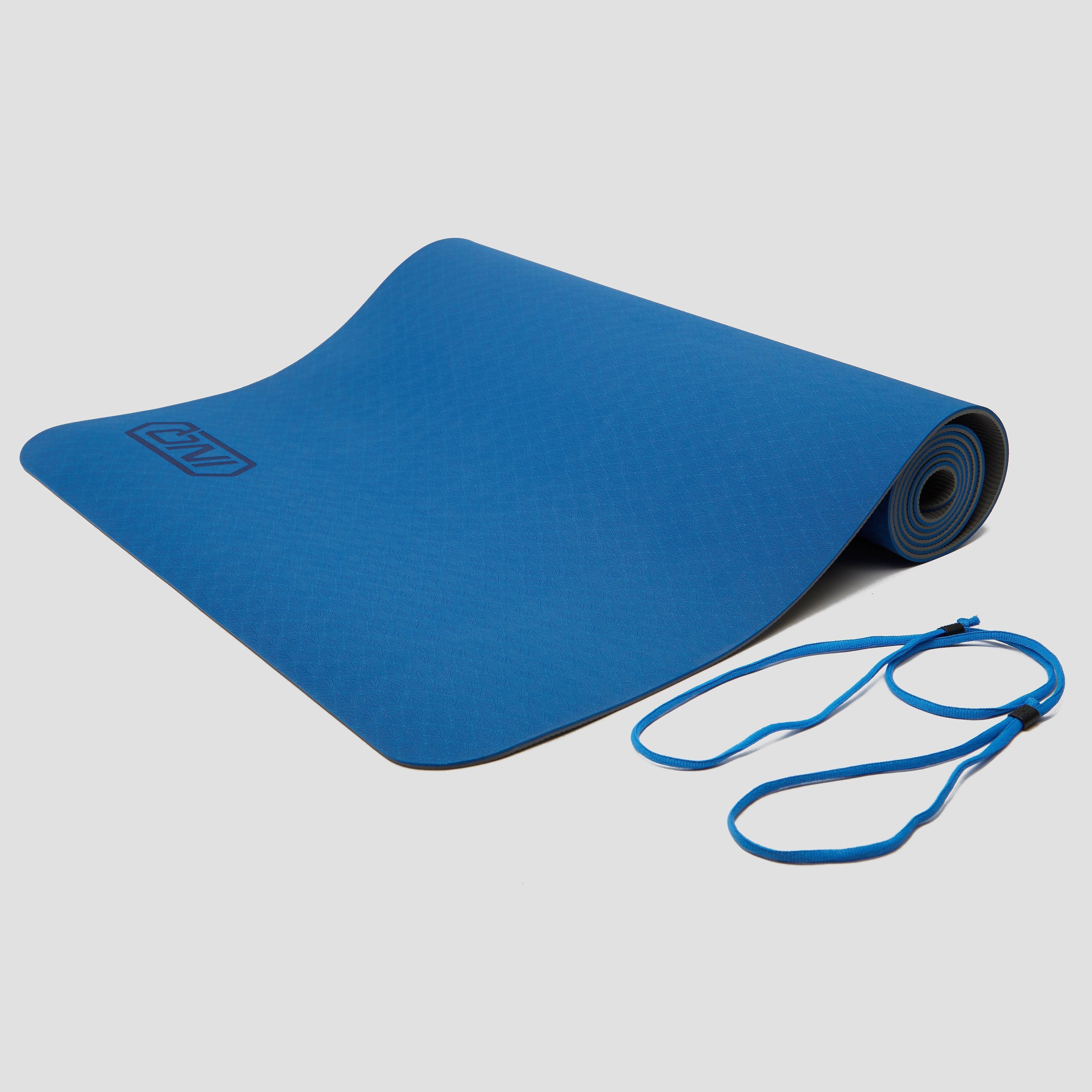 INQ Yogamat 5 millimeter tpe grijs/blauw Kinderen
