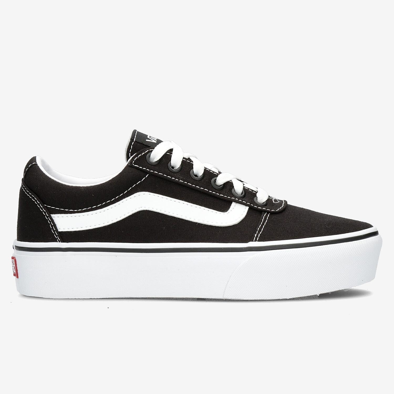 Vans ward platform sneakers zwart/wit dames online kopen
