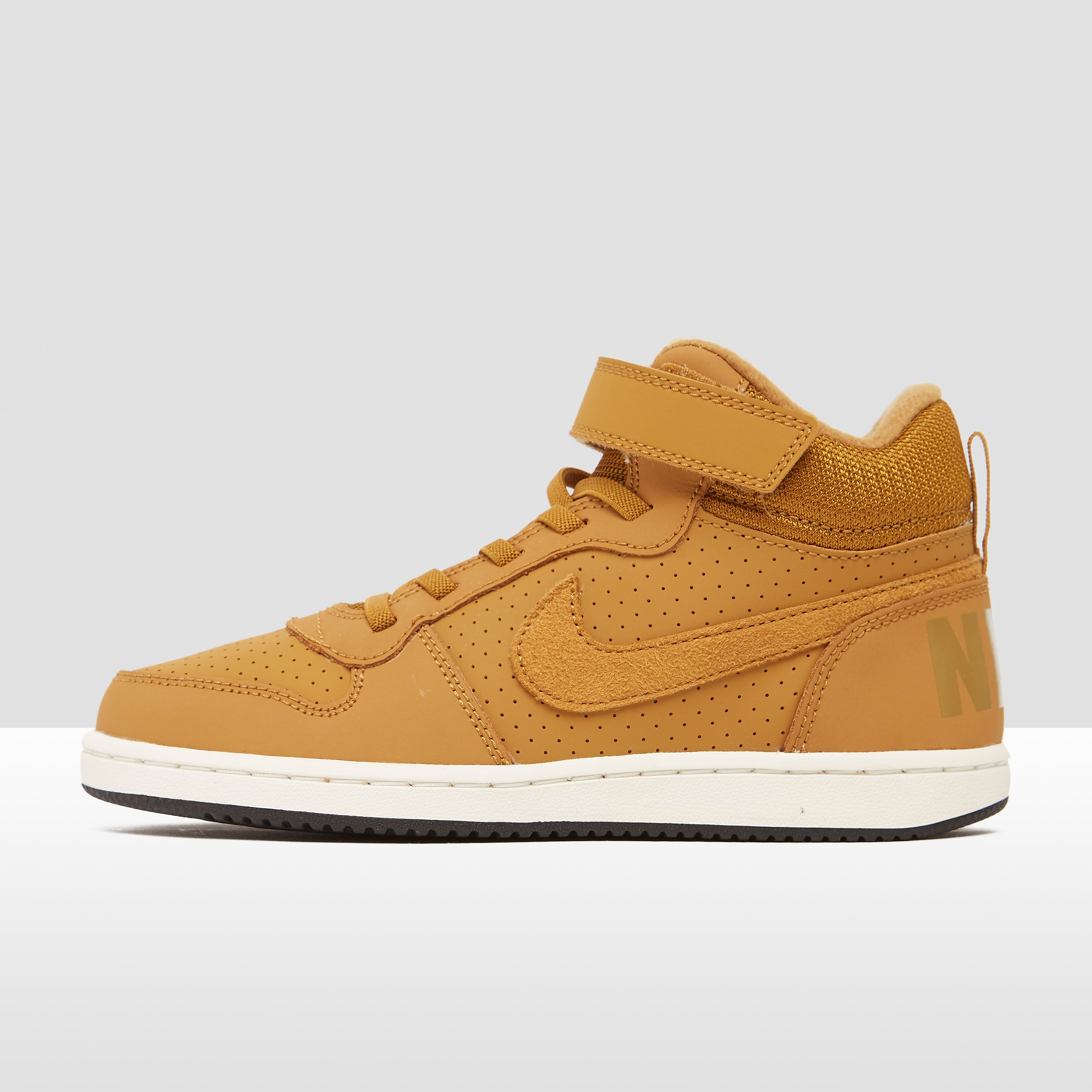 NIKE COURT BOROUGH MID SNEAKERS ZWART KINDEREN