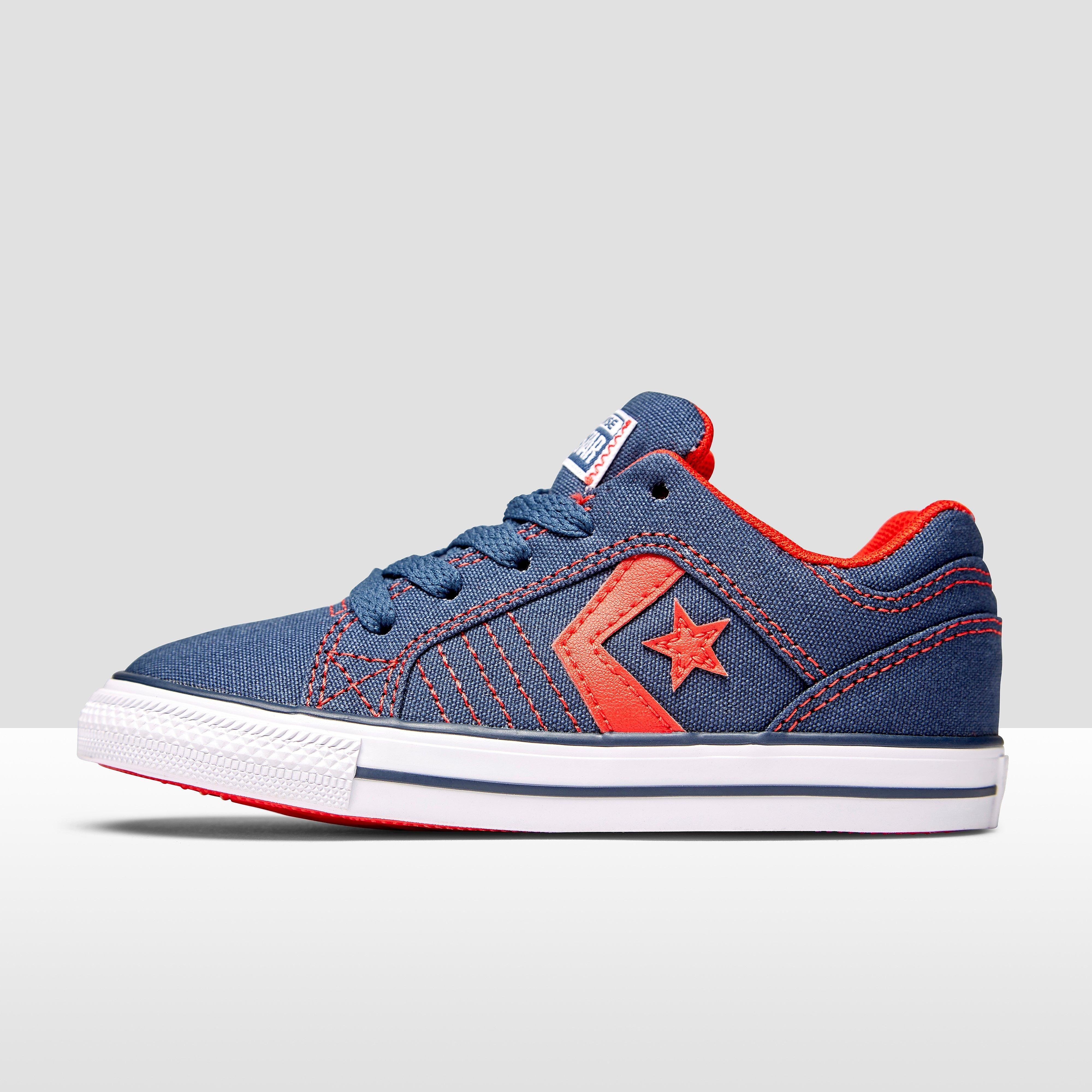 CONVERSE GATES OX SNEAKERS BLAUW/ROOD BABY