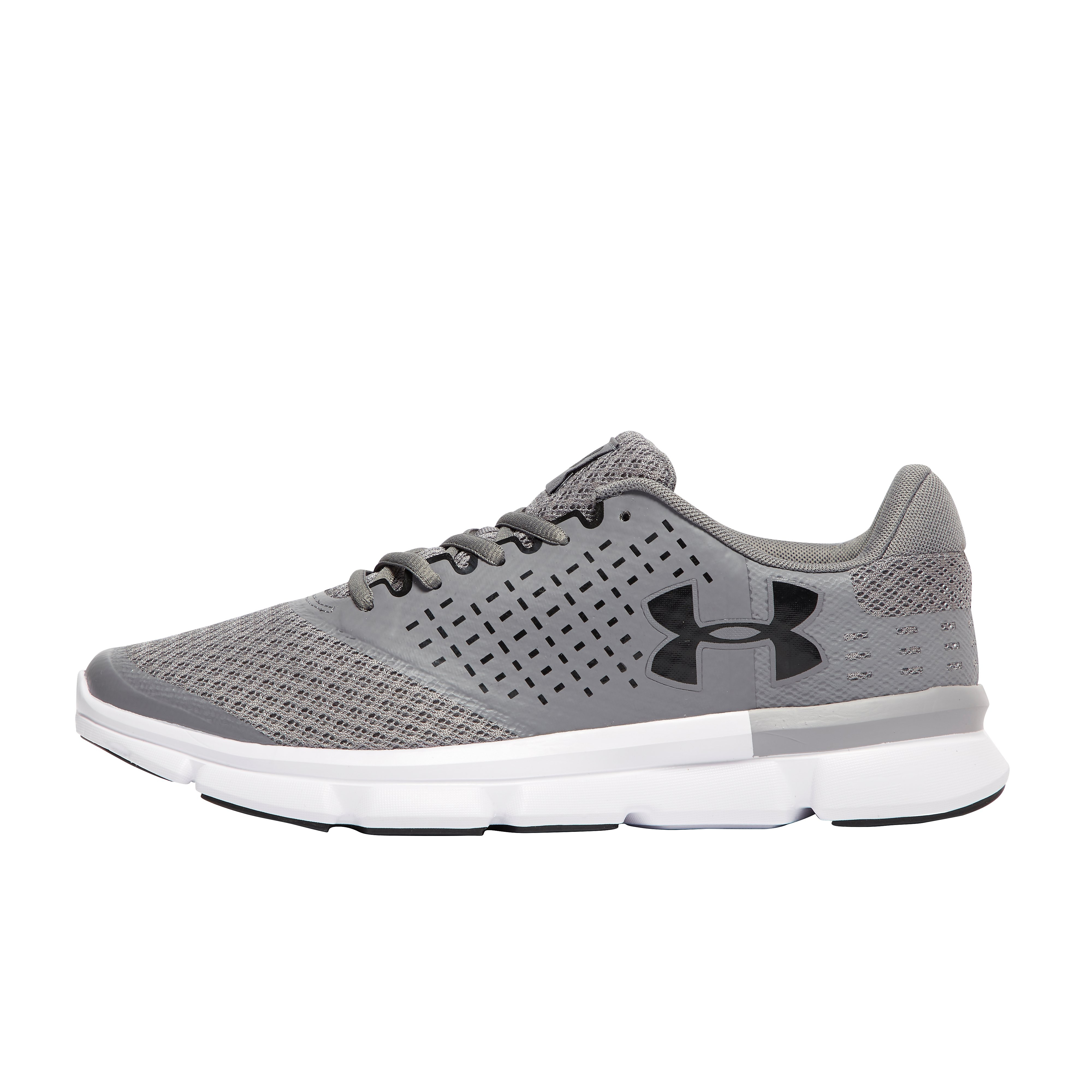 Men's Under Armour Micro G Speed Swift Running Shoes - Grey/Black, Grey/Black