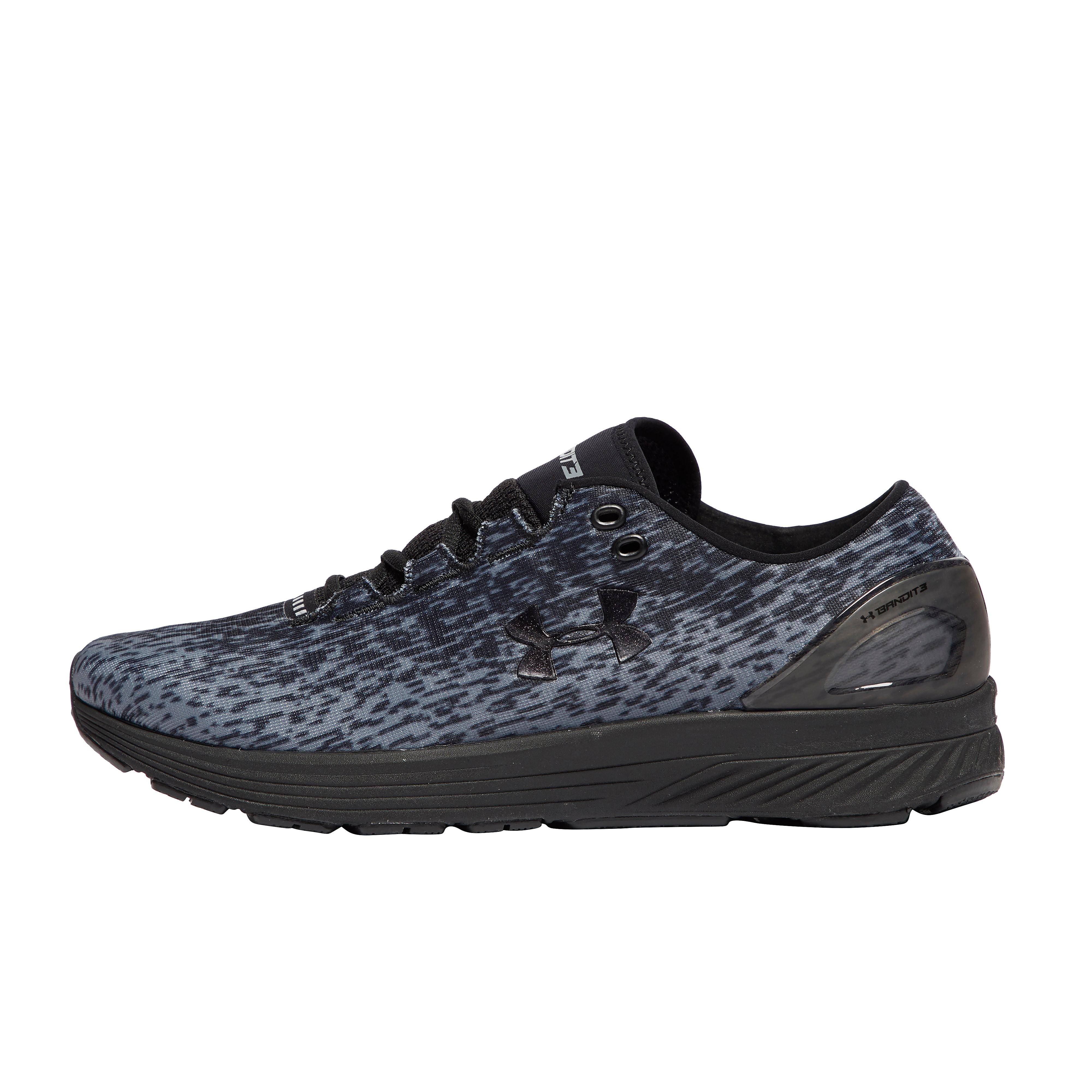Men's Under Armour Bandit Running Shoes - Grey/Black, Grey/Black