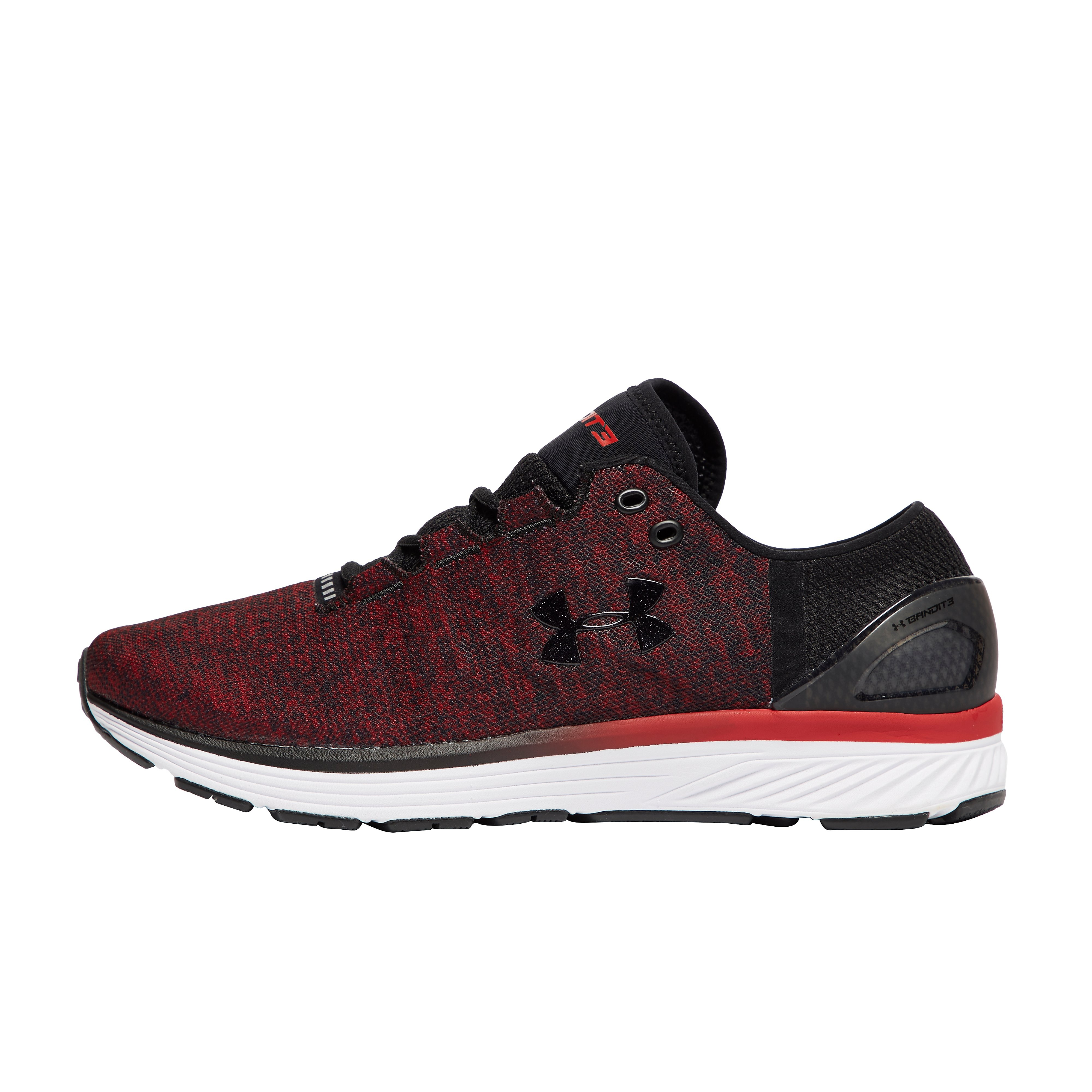 Men's Under Armour Bandit Running Shoes - Black/Spice Red, Black/Spice Red