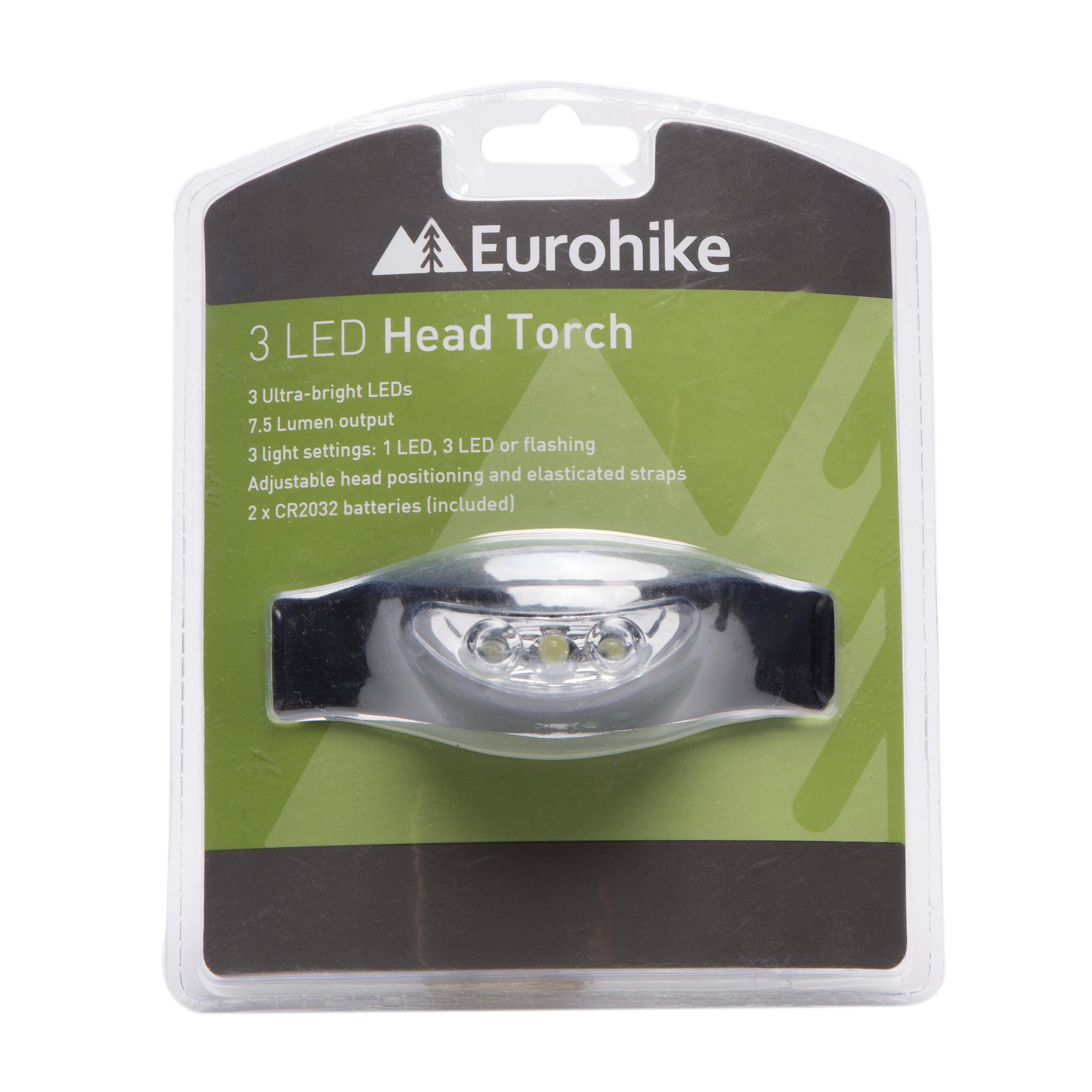 EUROHIKE 3 LED Ultra Bright Head Torch