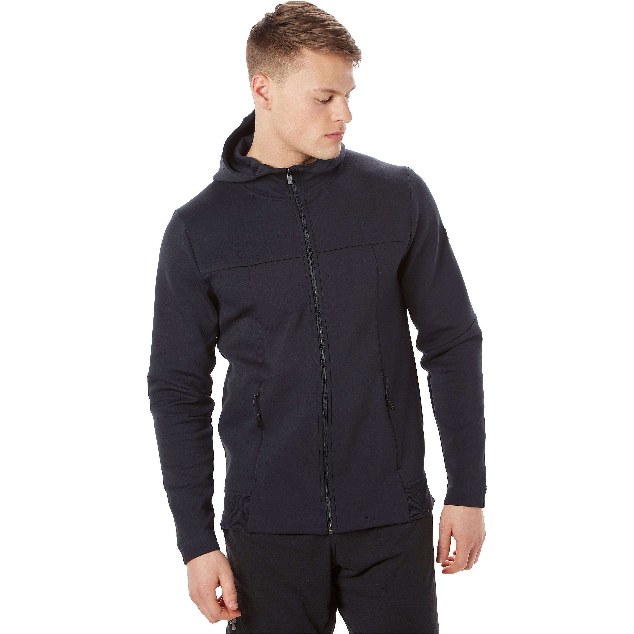 Men's Under Armour Sportstyle Elite Utility Full Zip Training Jacket - Black, Black