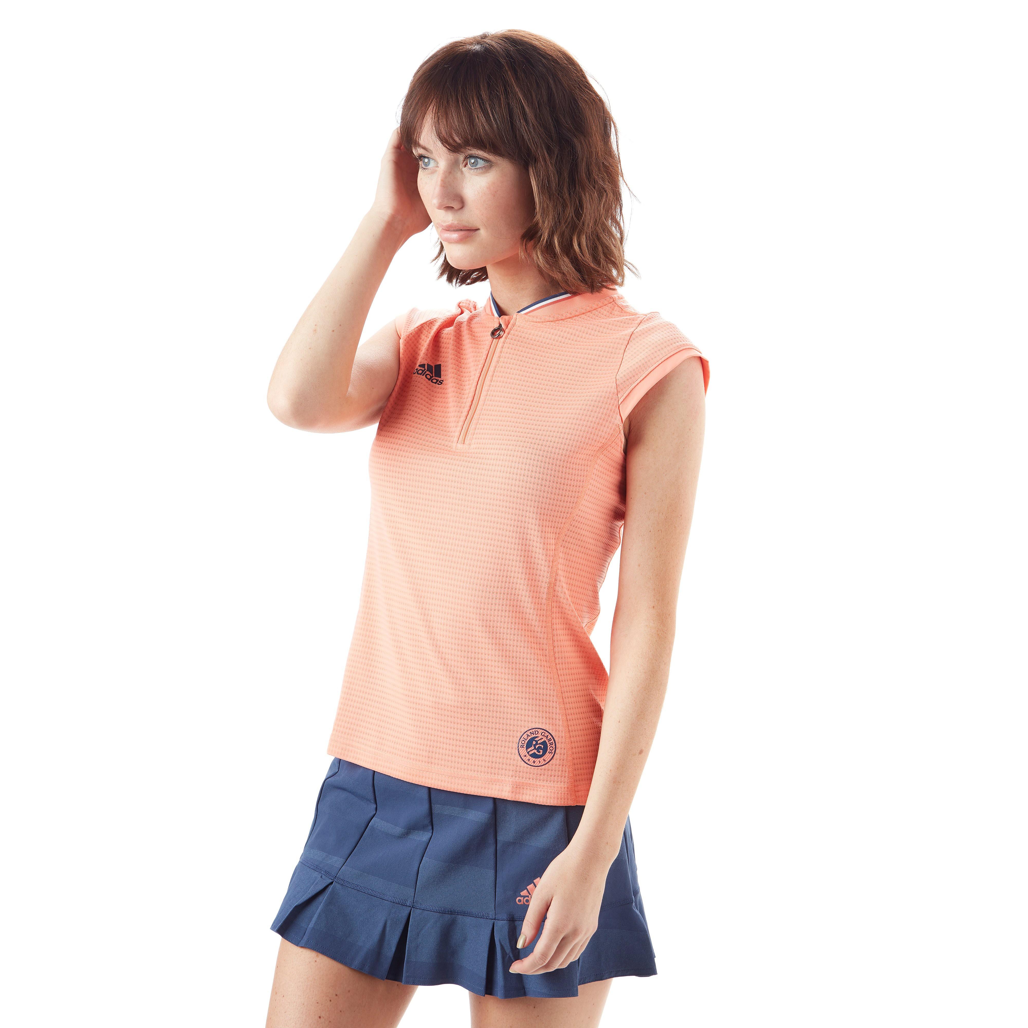 adidas Roland Garros Ball Girl ¼ Zip Women's Tennis T-Shirt