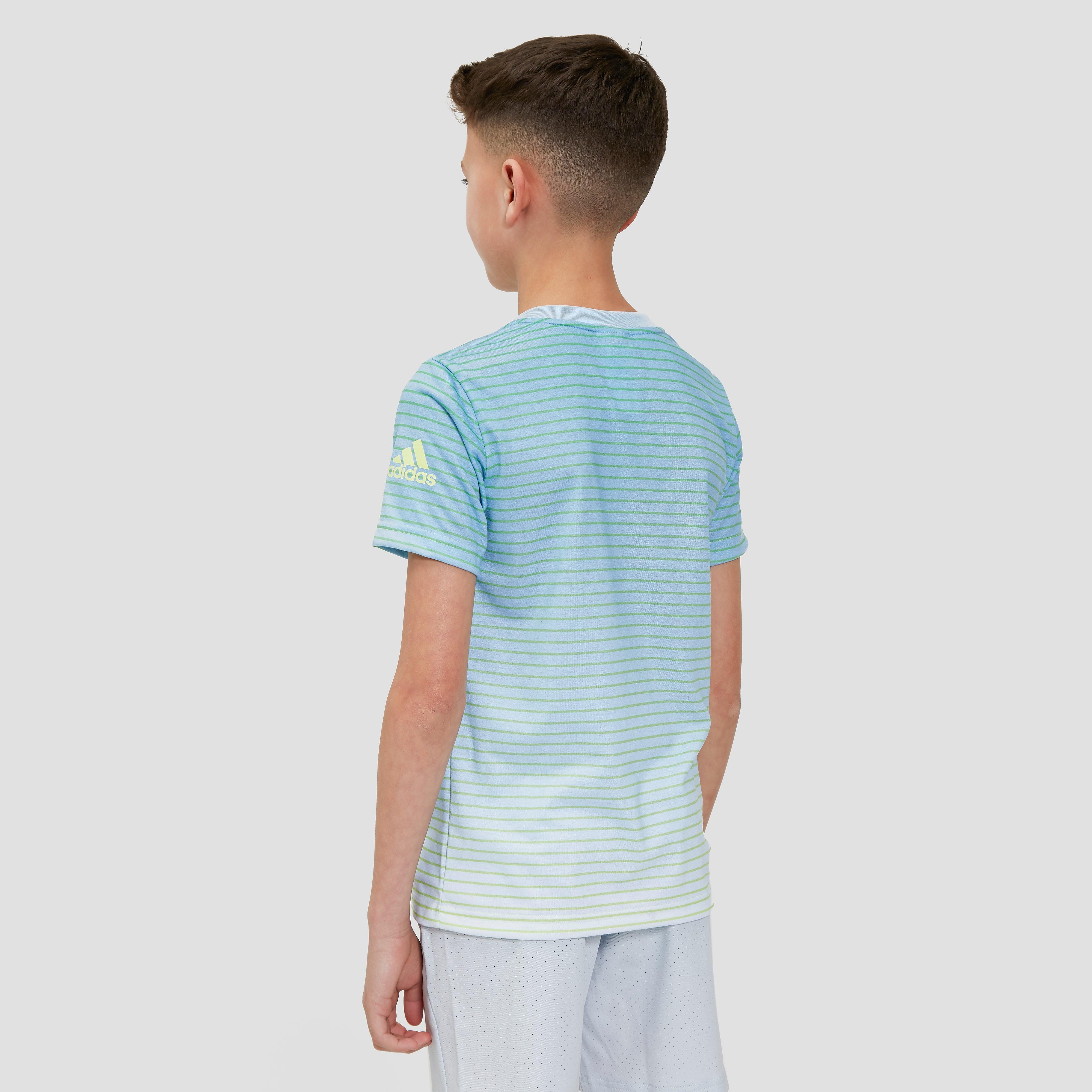 adidas Melbourne Striped Boys Tennis T-Shirt